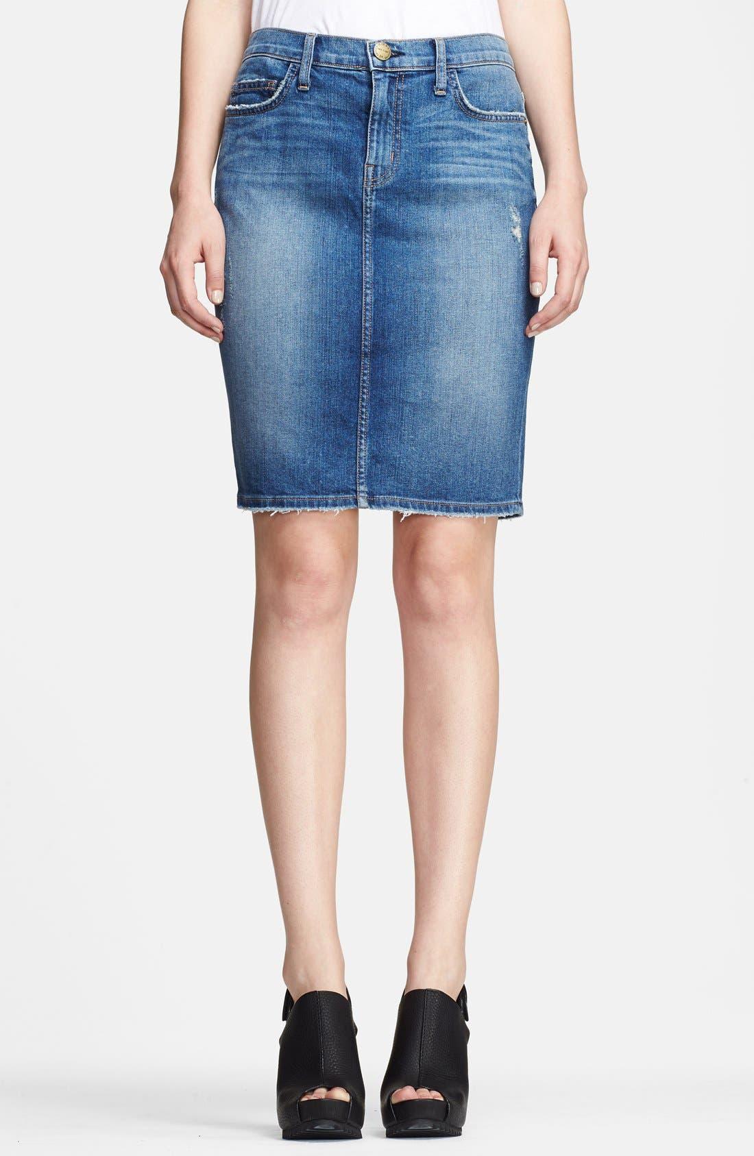Alternate Image 1 Selected - Current/Elliott 'The Stiletto' Denim Pencil Skirt