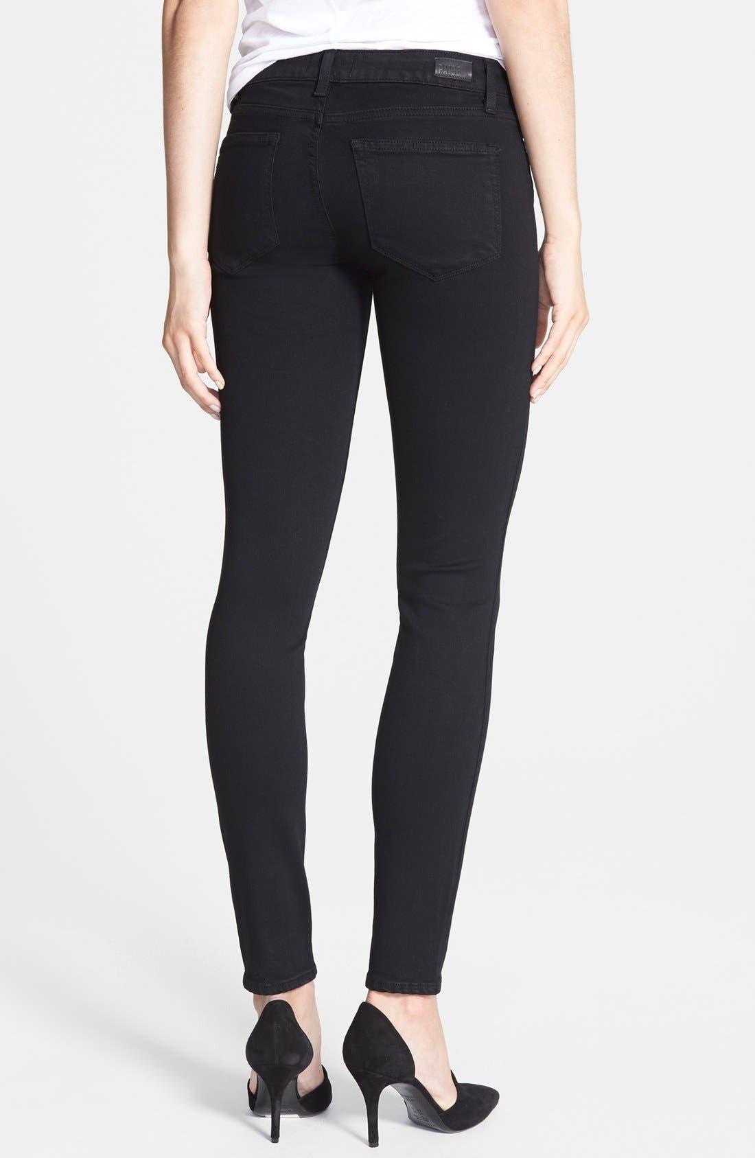 Alternate Image 3  - PAIGE Transcend - Verdugo Ultra Skinny Jeans (Black Shadow)