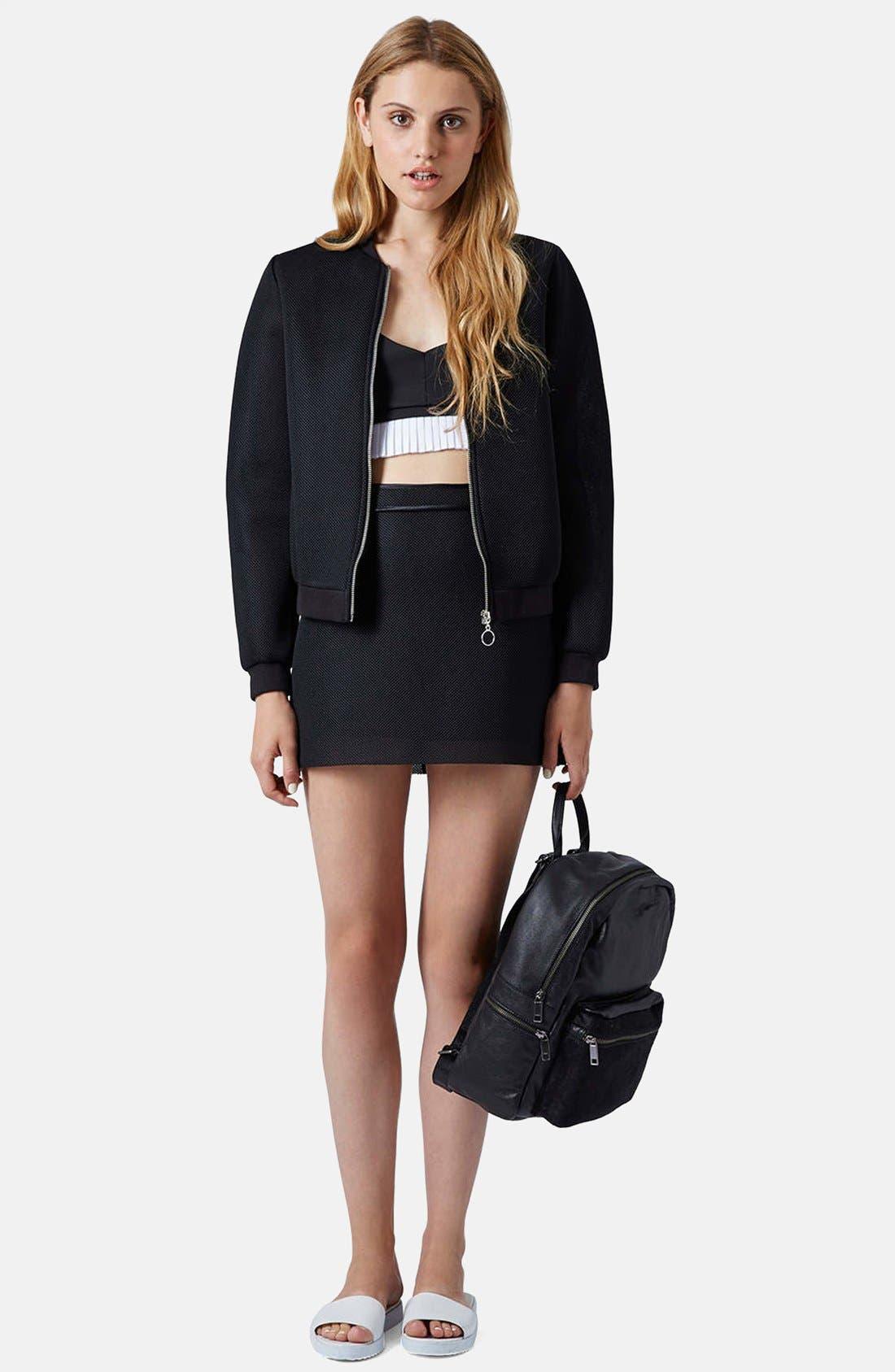 Alternate Image 5  - Topshop Airtex Miniskirt