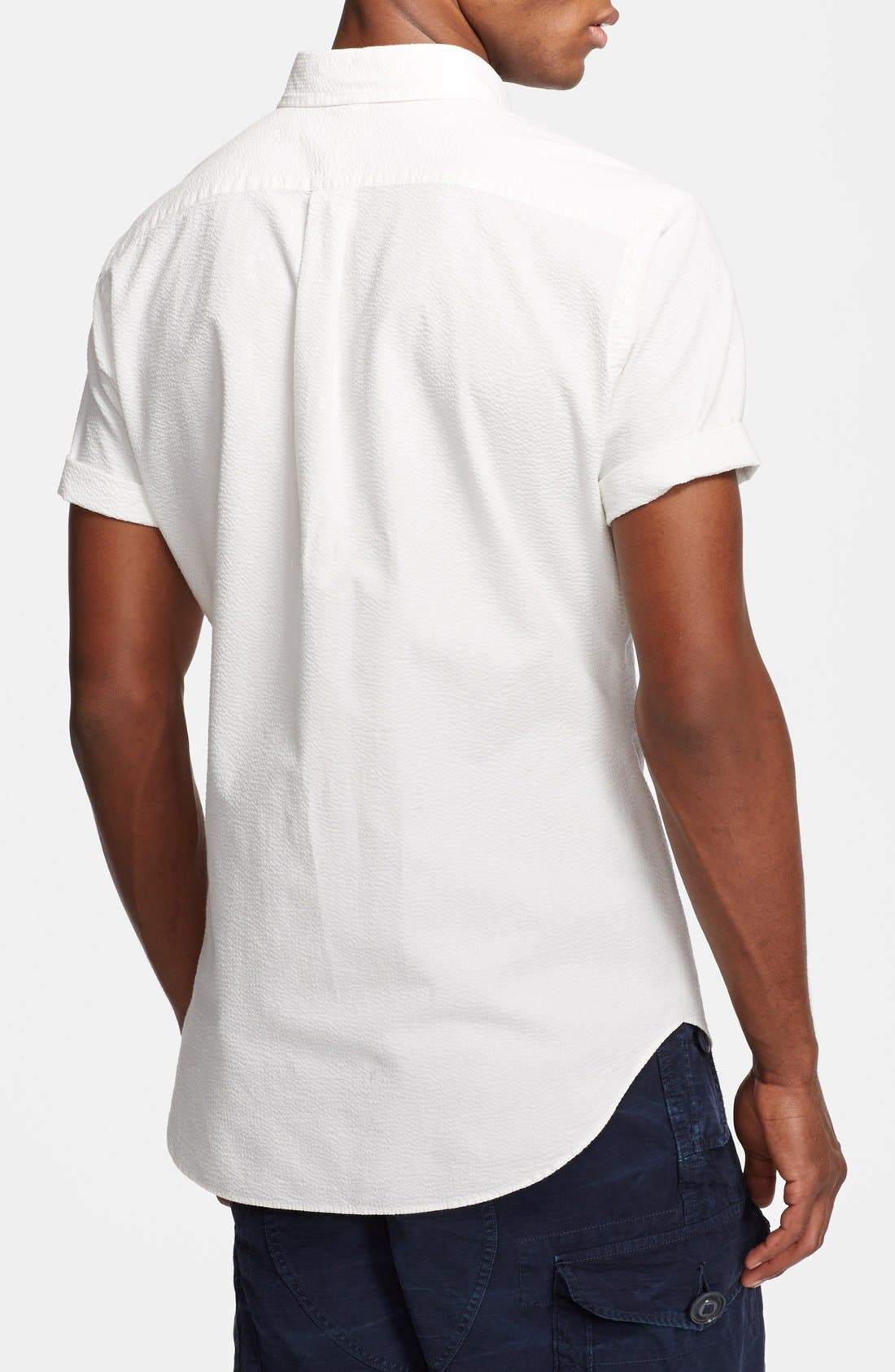 Alternate Image 2  - Polo Ralph Lauren Classic Fit Seersucker Shirt