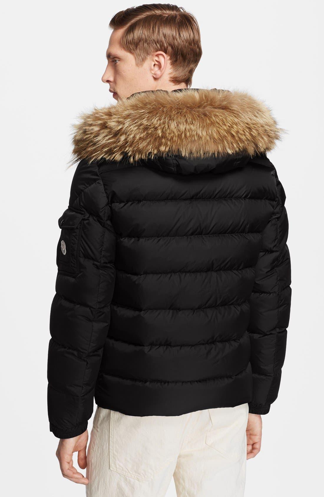Alternate Image 2  - Moncler 'Byron' Down Jacket with Fur Trimmed Hood