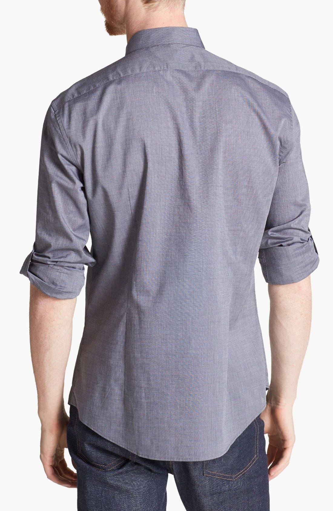 Alternate Image 3  - John Varvatos Collection Slim Fit Cotton Woven Shirt