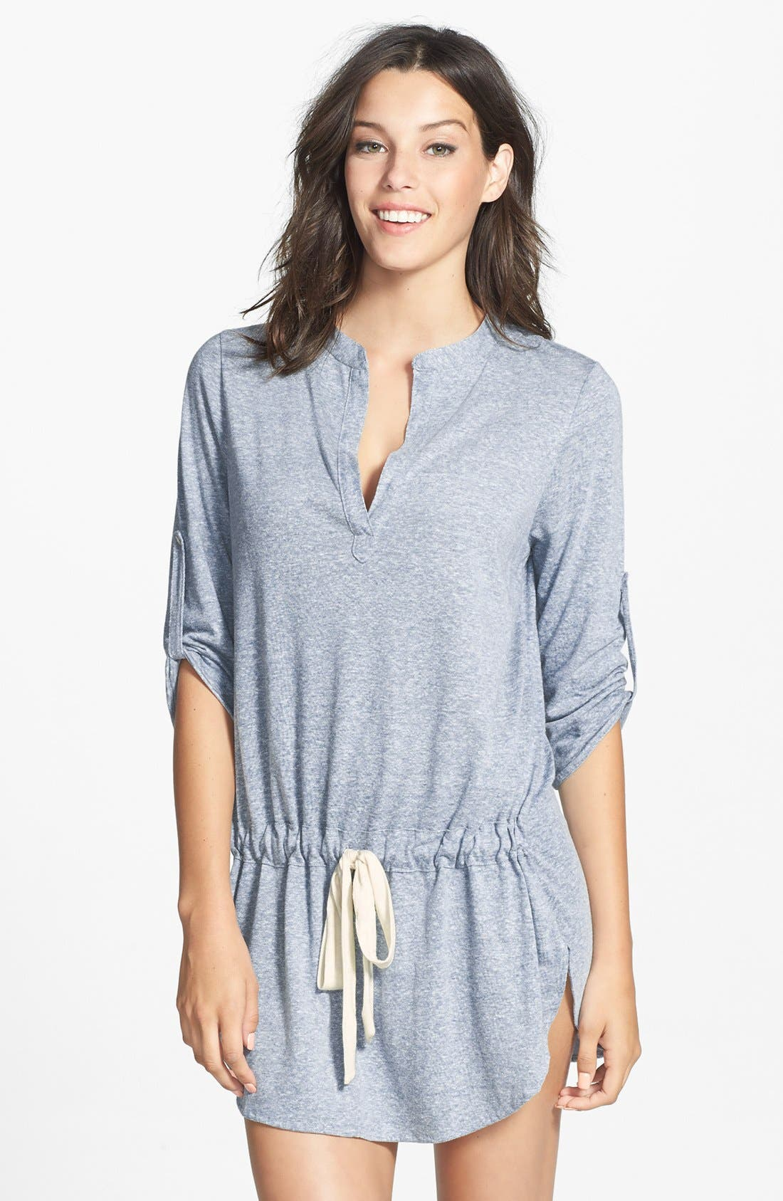 Main Image - Eberjey Roll Sleeve Heather Tunic