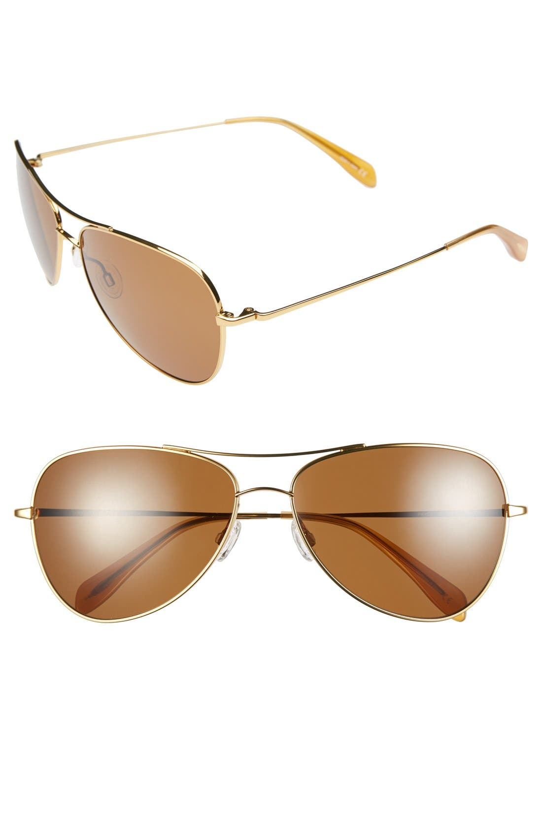 Alternate Image 1 Selected - Oliver Peoples for AERIN 'Pryce' 61mm Aviator Sunglasses