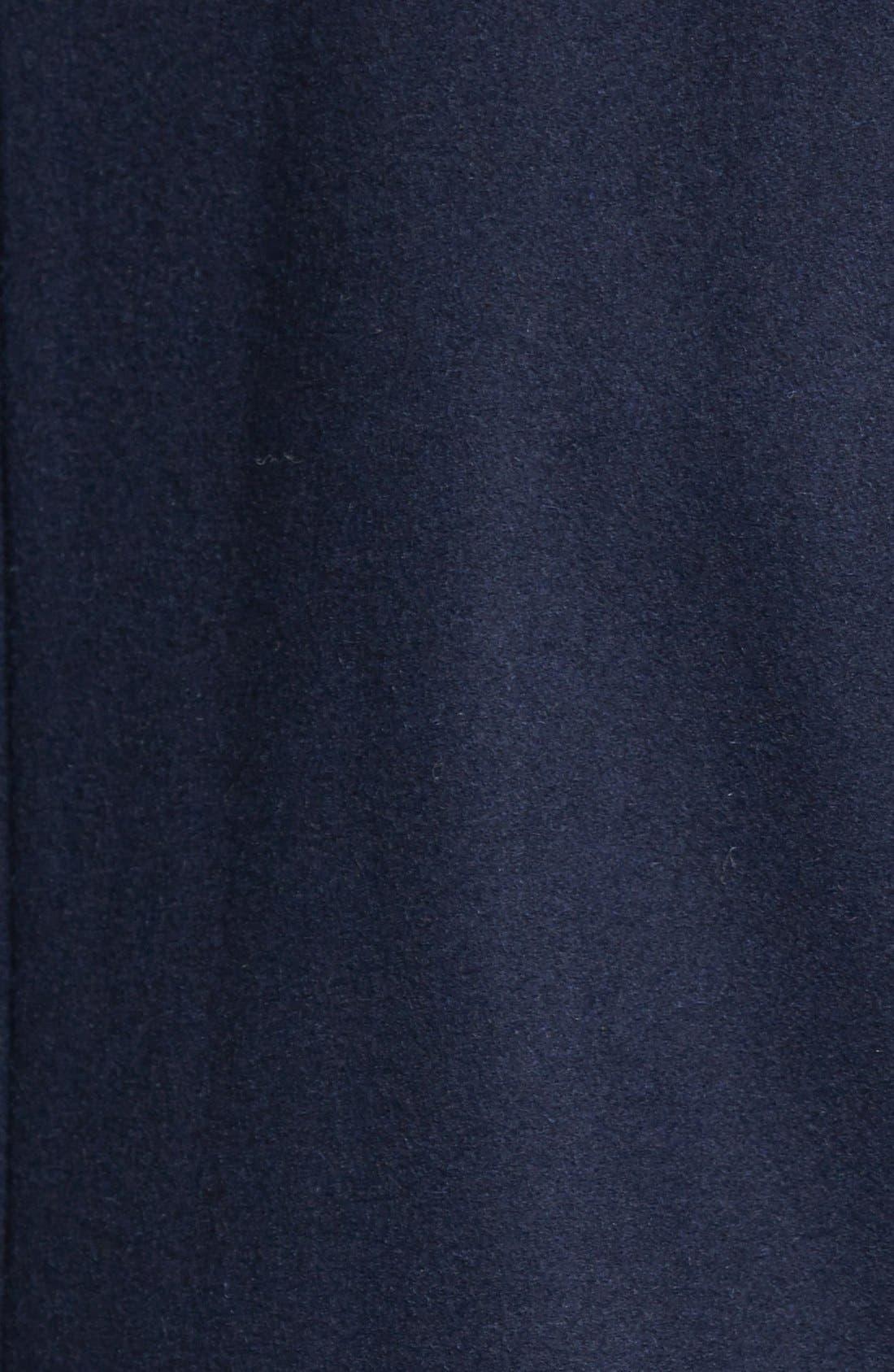 Alternate Image 3  - Sam Edelman 'Leah' Faux Fur & Plaid Trim Asymmetrical Coat