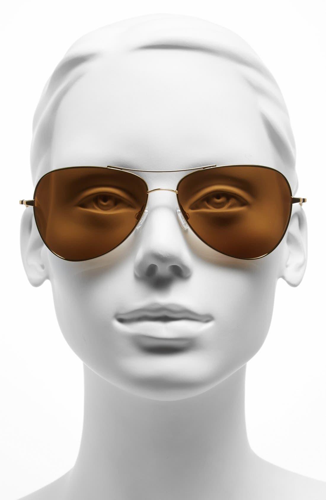Alternate Image 2  - Oliver Peoples for AERIN 'Pryce' 61mm Aviator Sunglasses