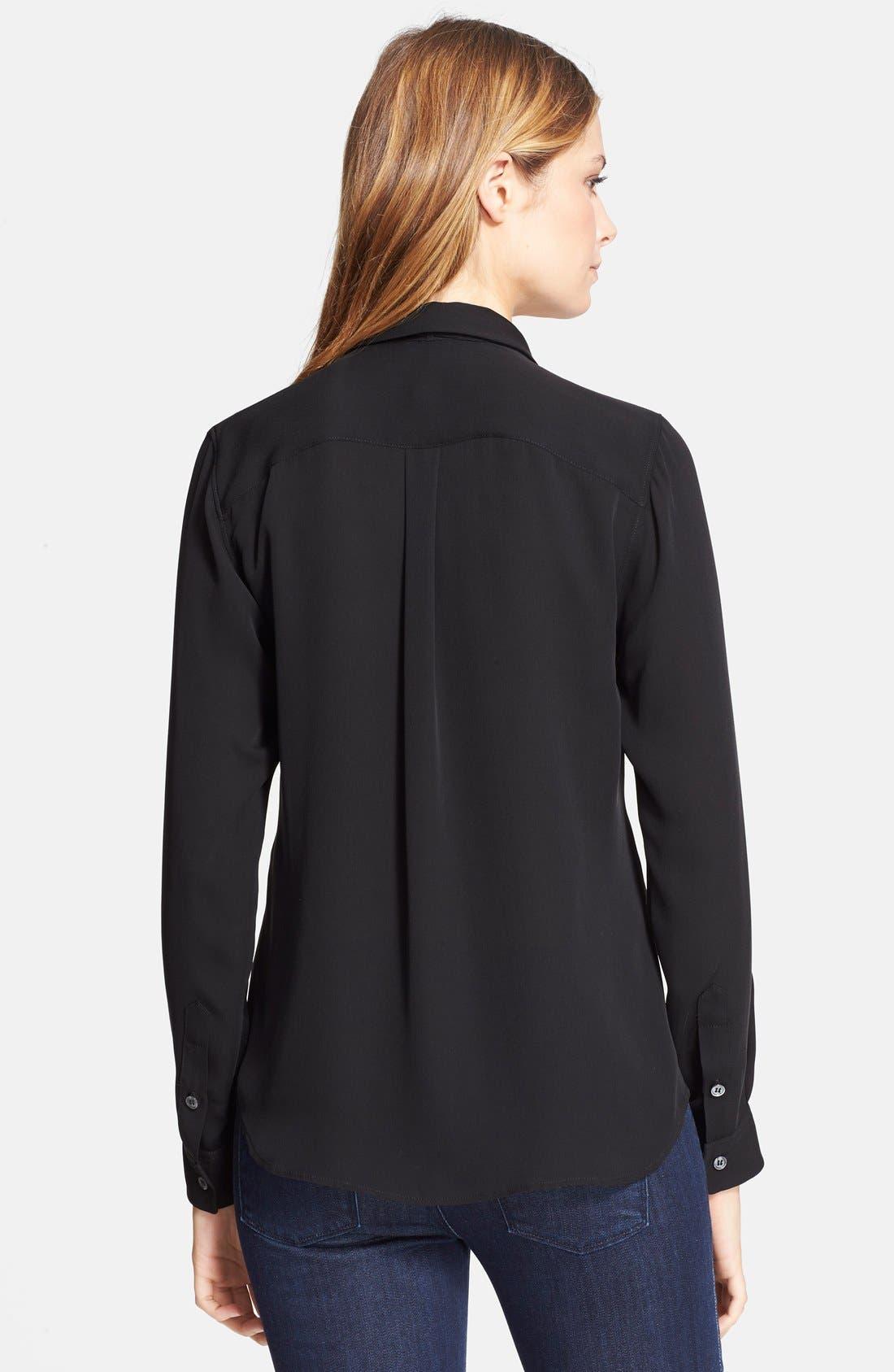Alternate Image 2  - Theory 'Emmanuelle' Silk Shirt