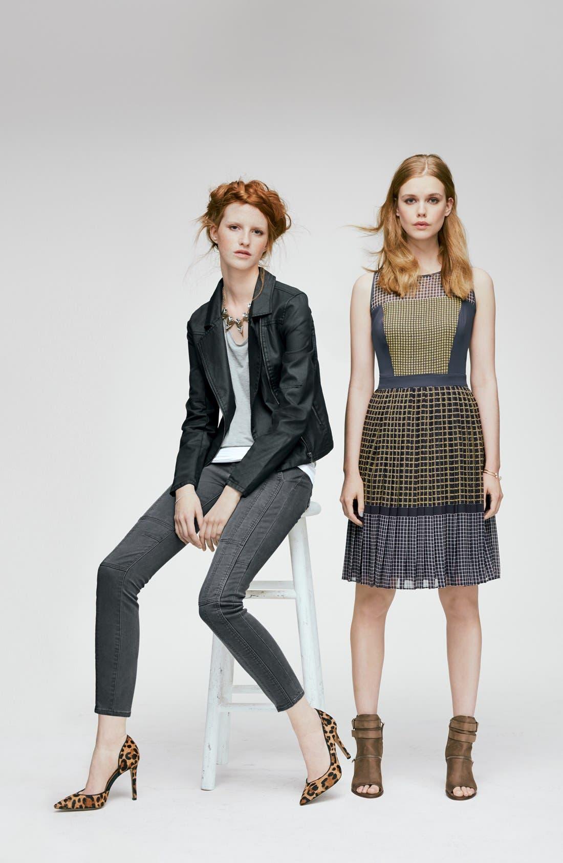 Alternate Image 4  - Halogen® Print Fit & Flare Dress (Regular & Petite)