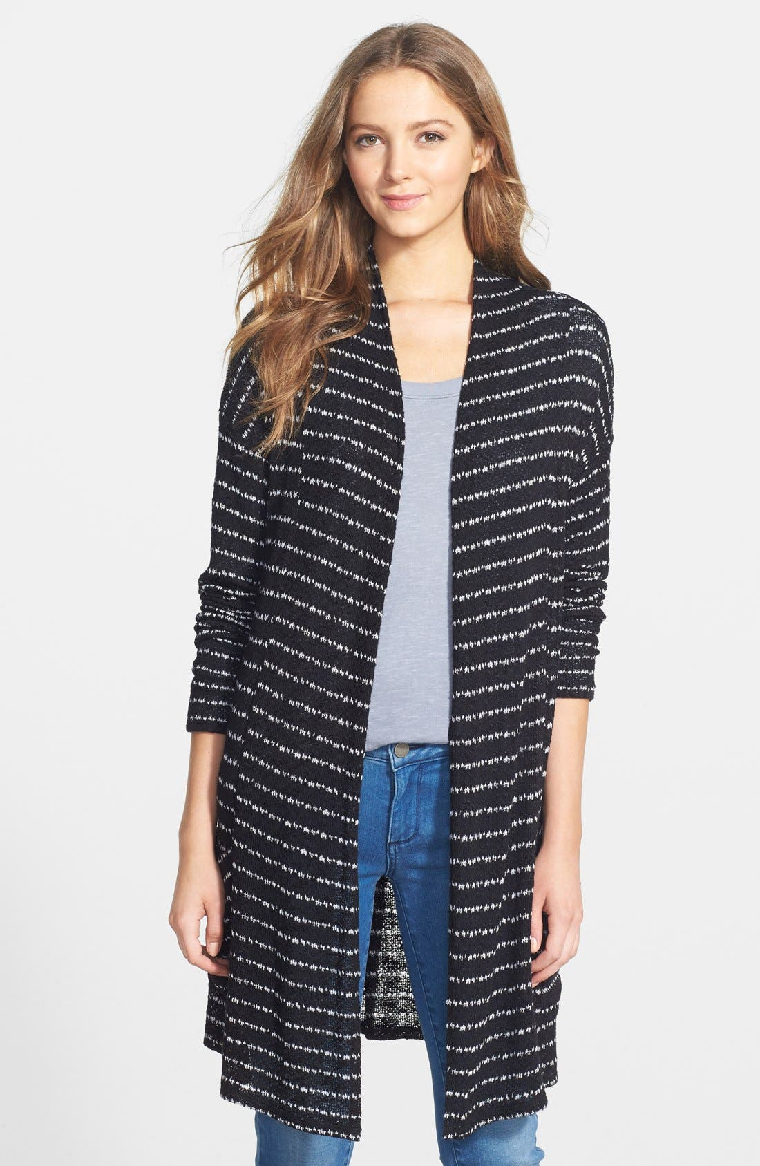 Alternate Image 1 Selected - Olivia Moon Two-Pocket Long Cardigan (Regular & Petite)