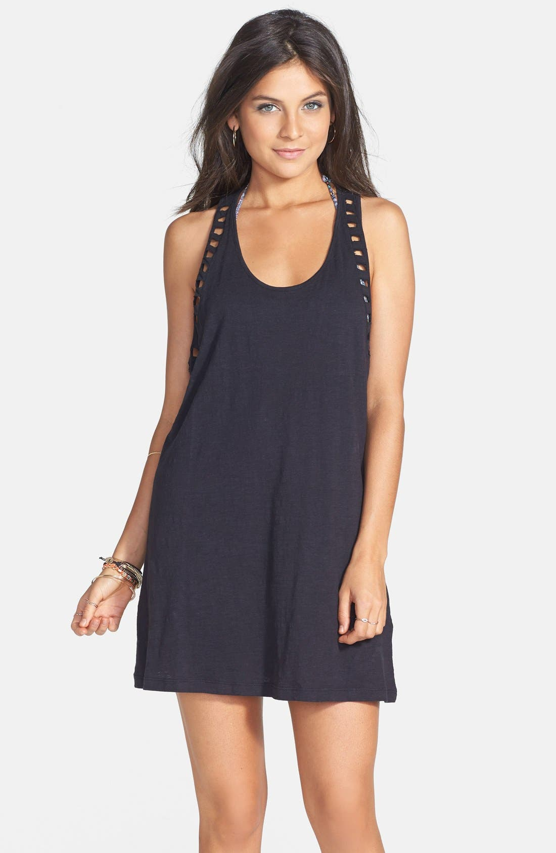 Alternate Image 1 Selected - Volcom 'Walk on By' Cutout Babydoll Dress