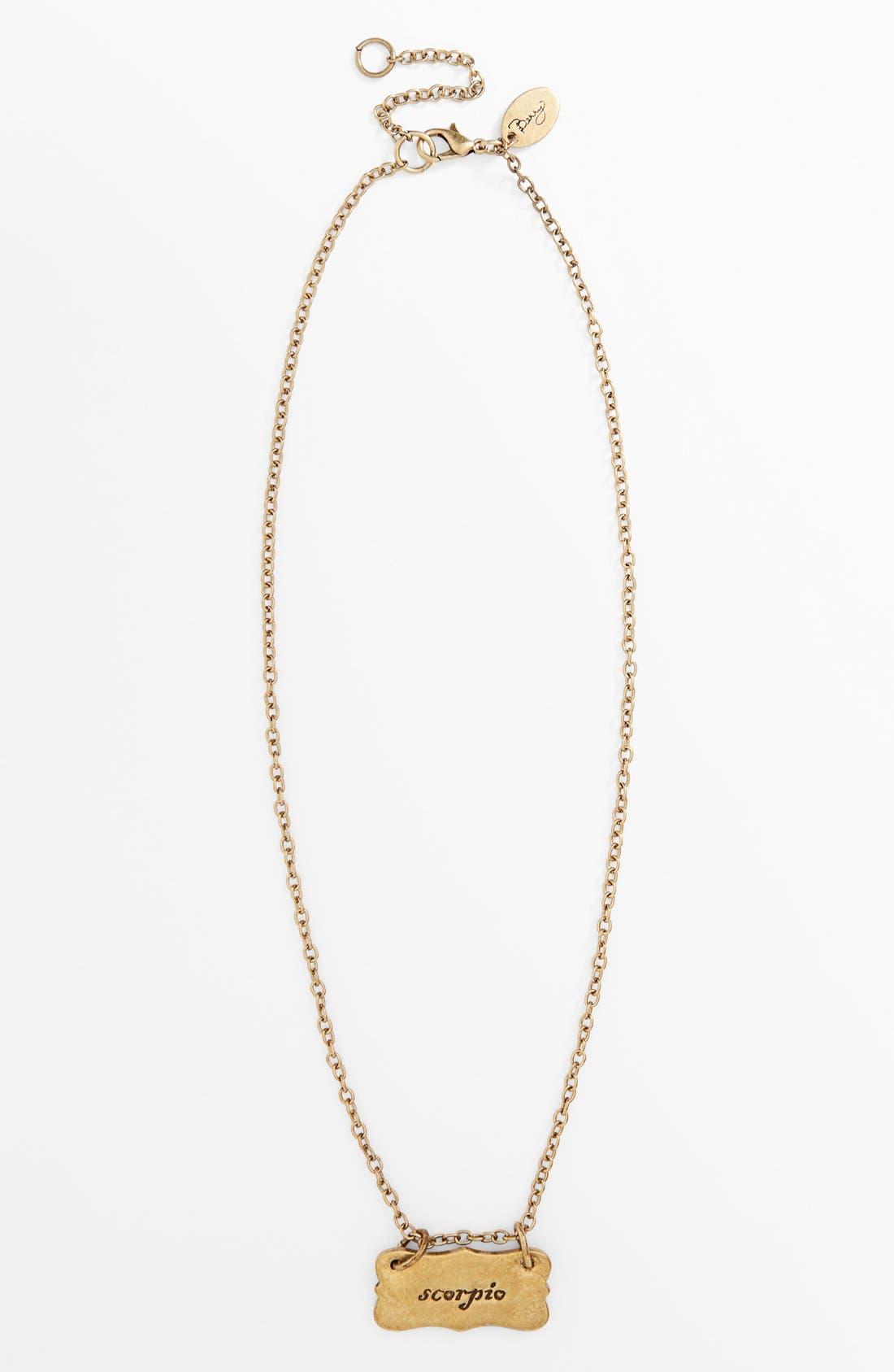 Alternate Image 4  - Berry 'Zodiac - Scorpio' Reversible Pendant Necklace (Goldtone)