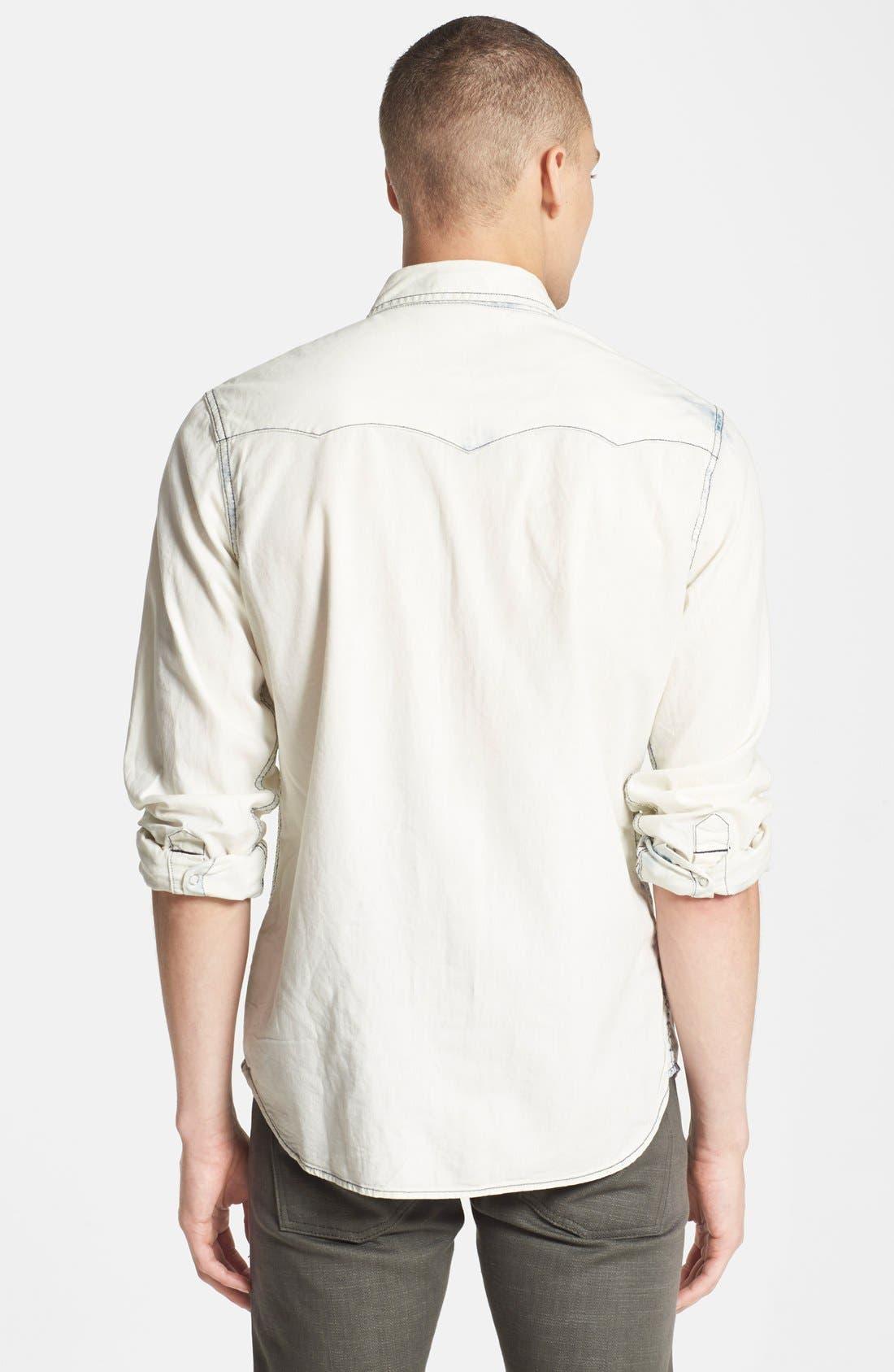 Alternate Image 2  - True Religion Brand Jeans Bleached Western Shirt