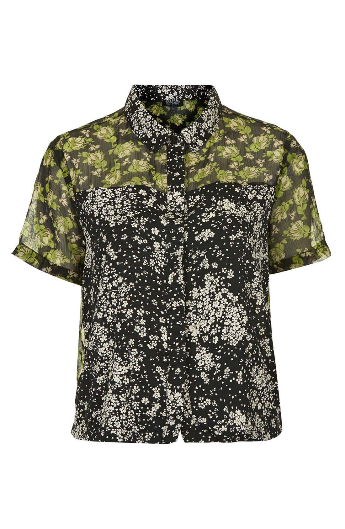 Alternate Image 3  - Topshop Reclaim To Wear Mix Print Shirt