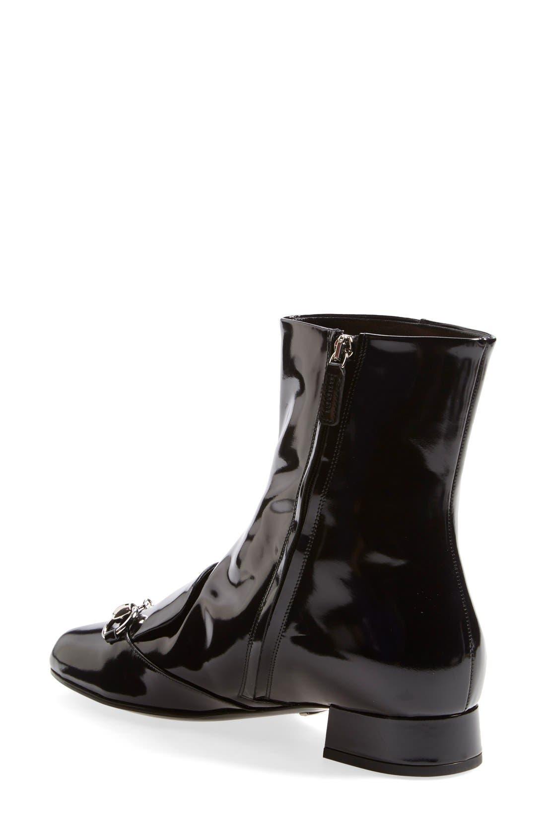 Alternate Image 2  - Gucci 'Lillian' Horsebit Ankle Bootie (Women)
