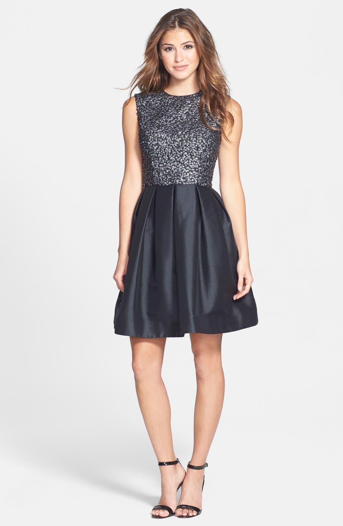 Alternate Image 3  - ML Monique Lhuillier Embellished Fit & Flare Dress