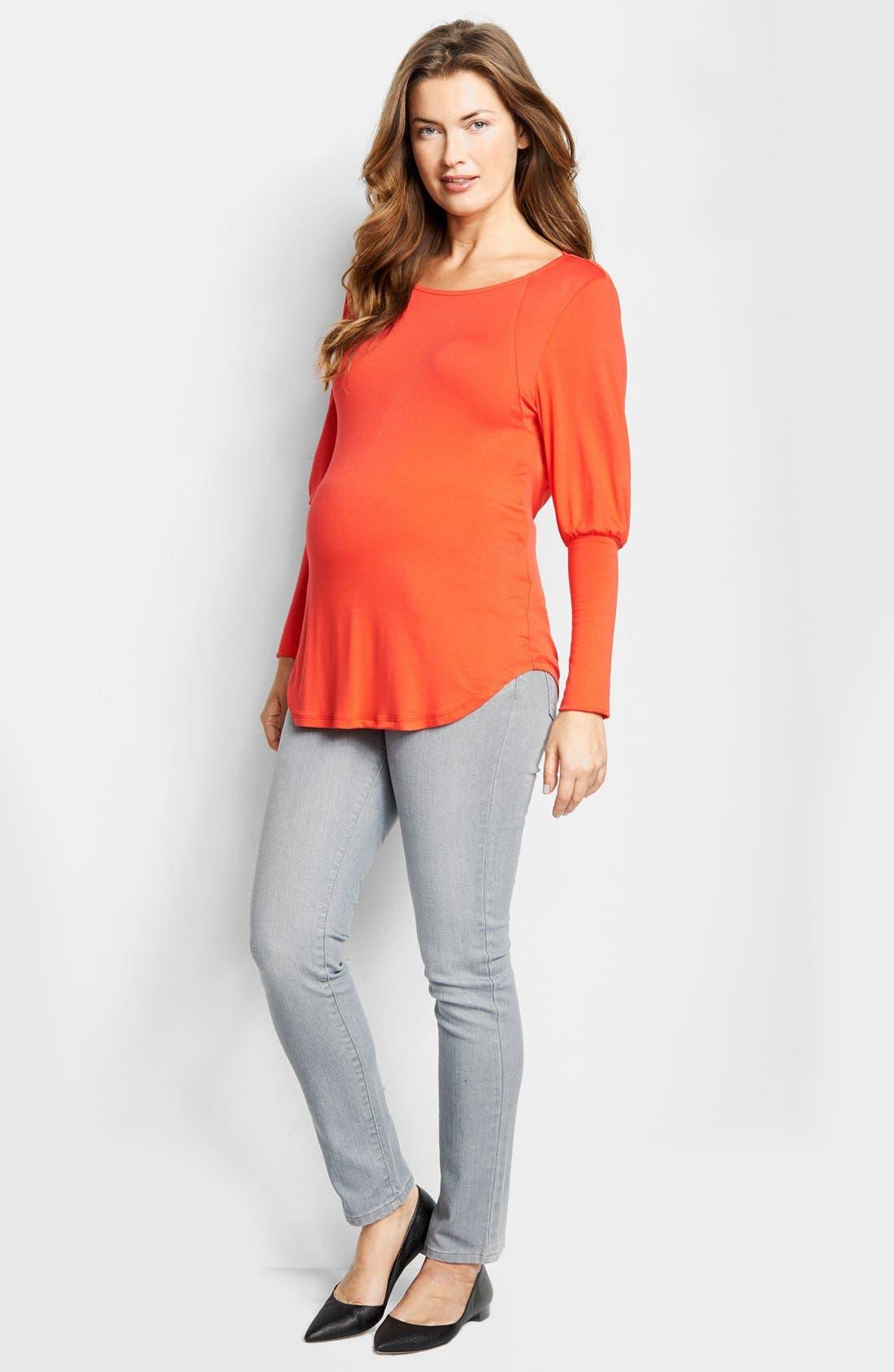 Maternal America Drape Back Maternity Top