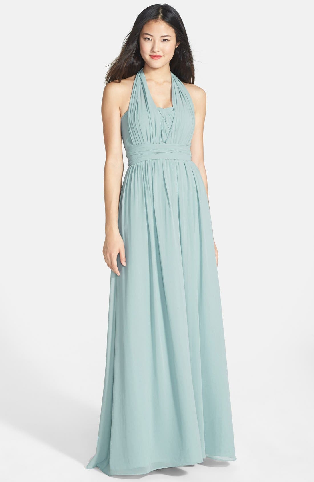 Alternate Image 6  - Jenny Yoo 'Aidan' Convertible Strapless Chiffon Gown