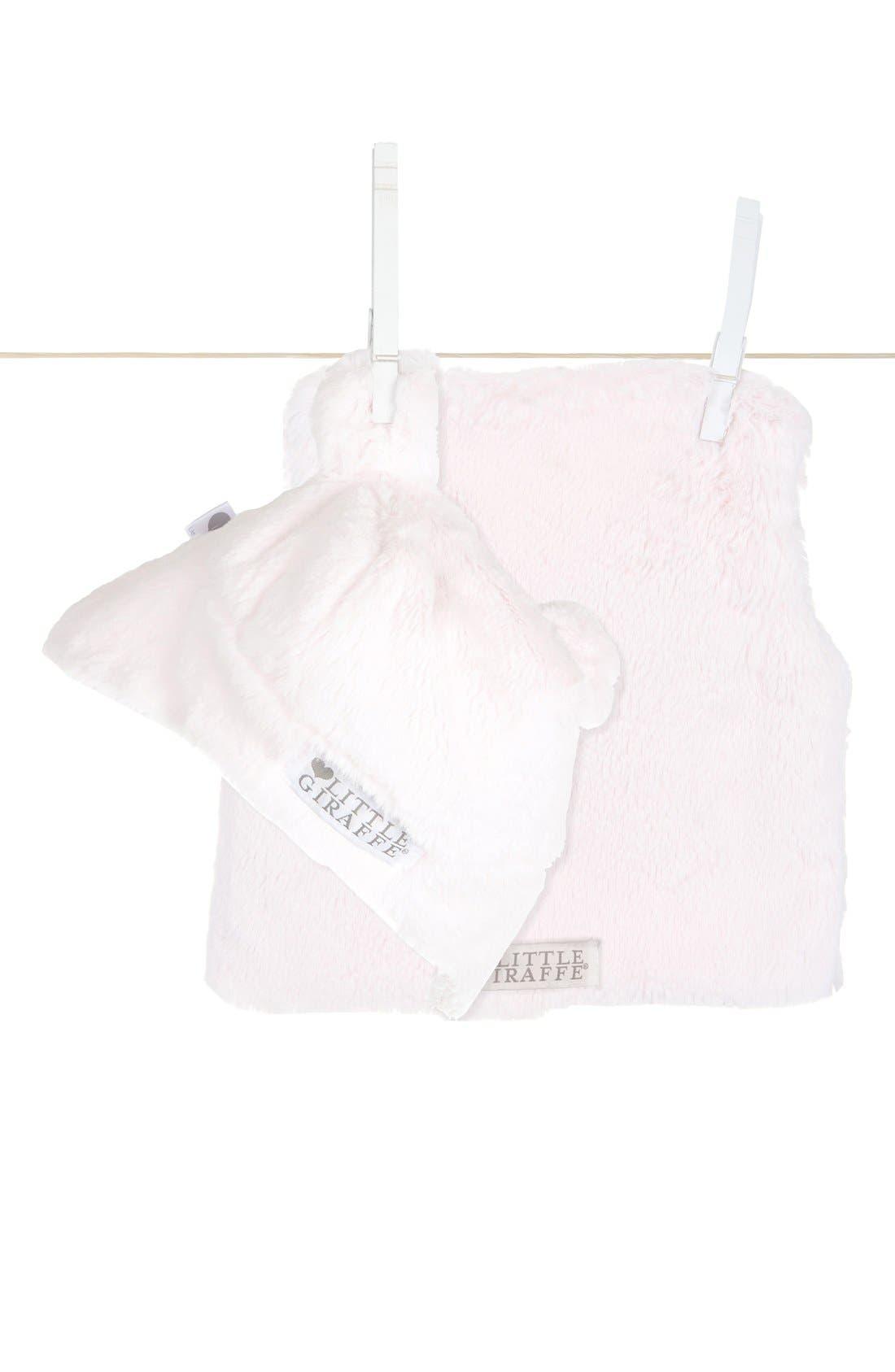 Main Image - Little Giraffe Plush Vest & Hat (Infant)
