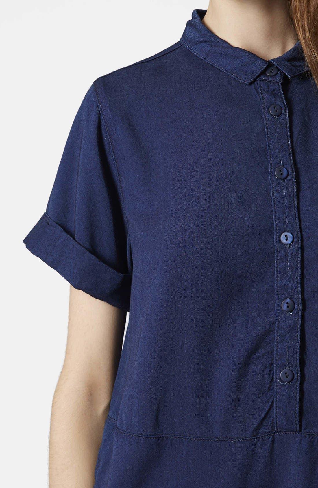 Alternate Image 4  - Topshop Denim Shirtdress