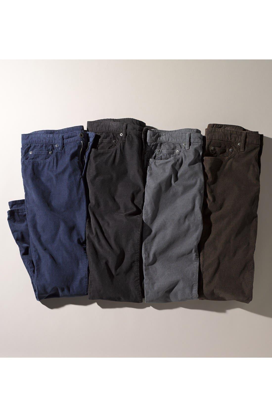 Alternate Image 4  - Bonobos Straight Leg Five-Pocket Corduroy Pants