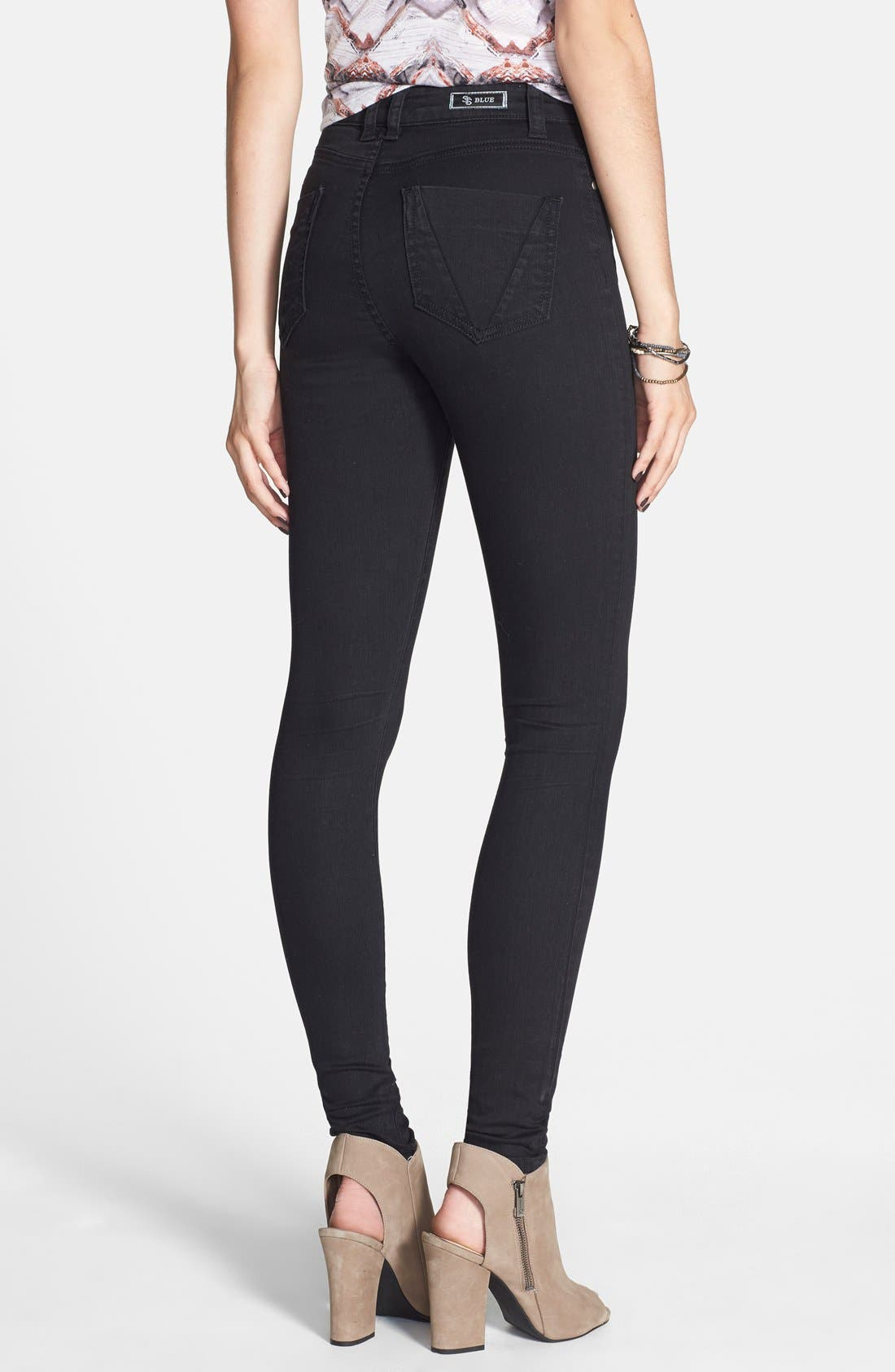 Alternate Image 2  - STS Blue 'Elle' High Waist Skinny Jeans