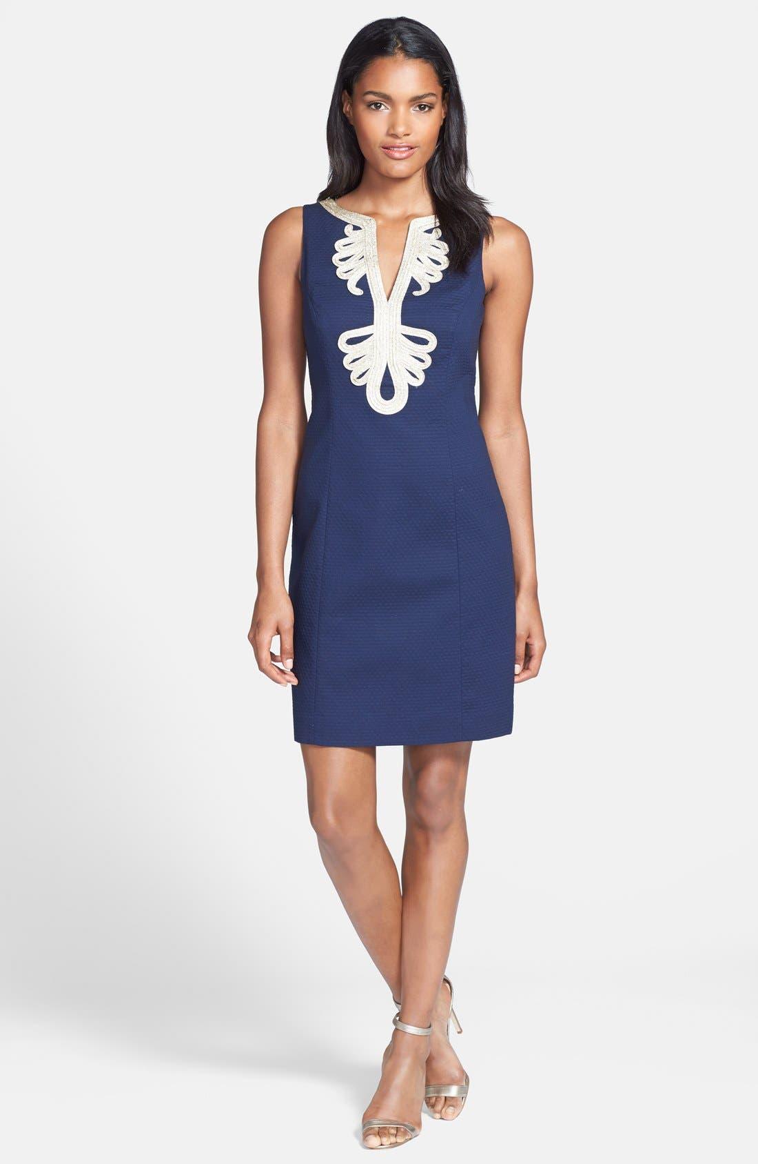 Alternate Image 3  - Lilly Pulitzer® 'Janice' Soutache Cotton Shift Dress