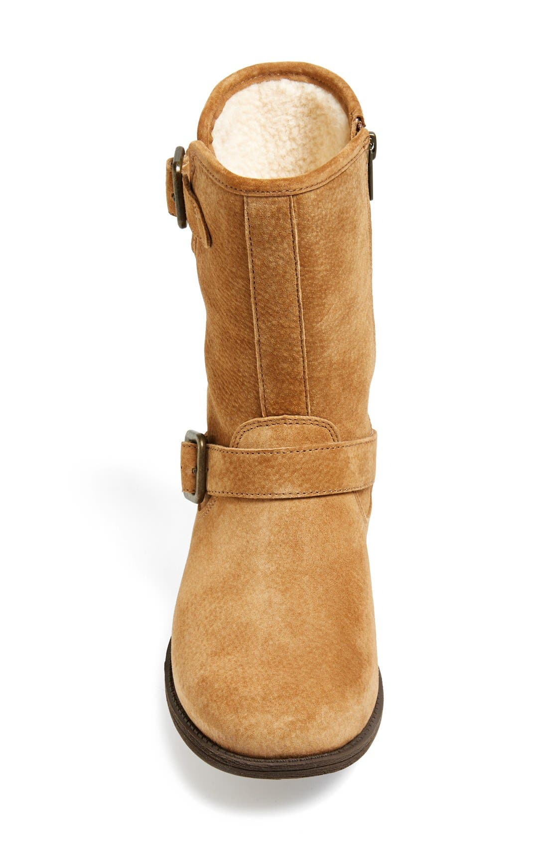Alternate Image 3  - UGG® 'Chaney' Water Resistant Suede Moto Boot (Women)