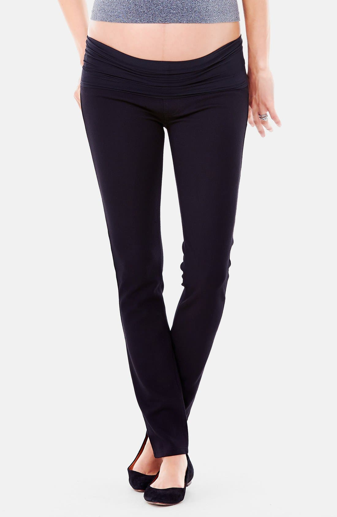 Alternate Image 3  - Ingrid & Isabel® Ponte Knit Skinny Maternity Pants