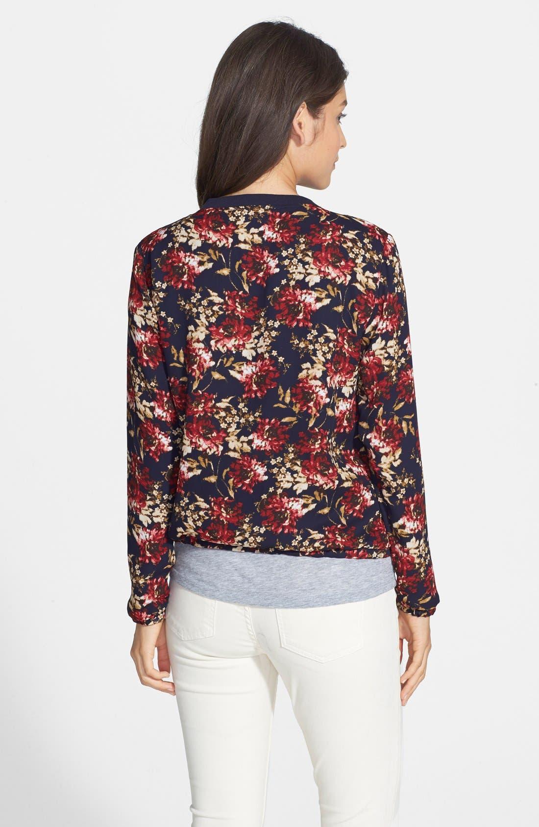 Alternate Image 3  - Olive & Oak Floral Print Bomber Jacket