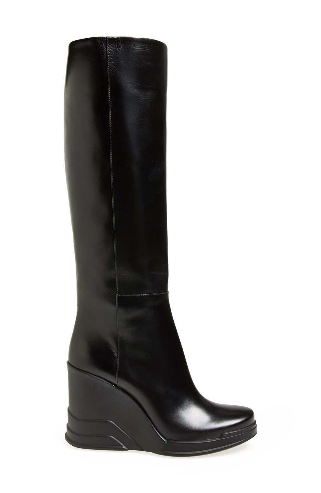 Alternate Image 4  - Prada Knee High Wedge Boot (Women)