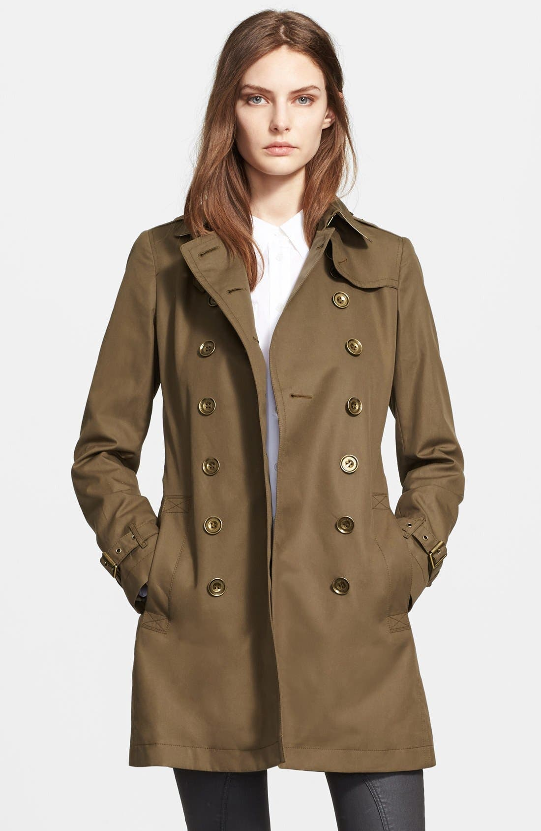 Alternate Image 3  - Burberry Brit 'Crombrook' Cotton Trench Coat