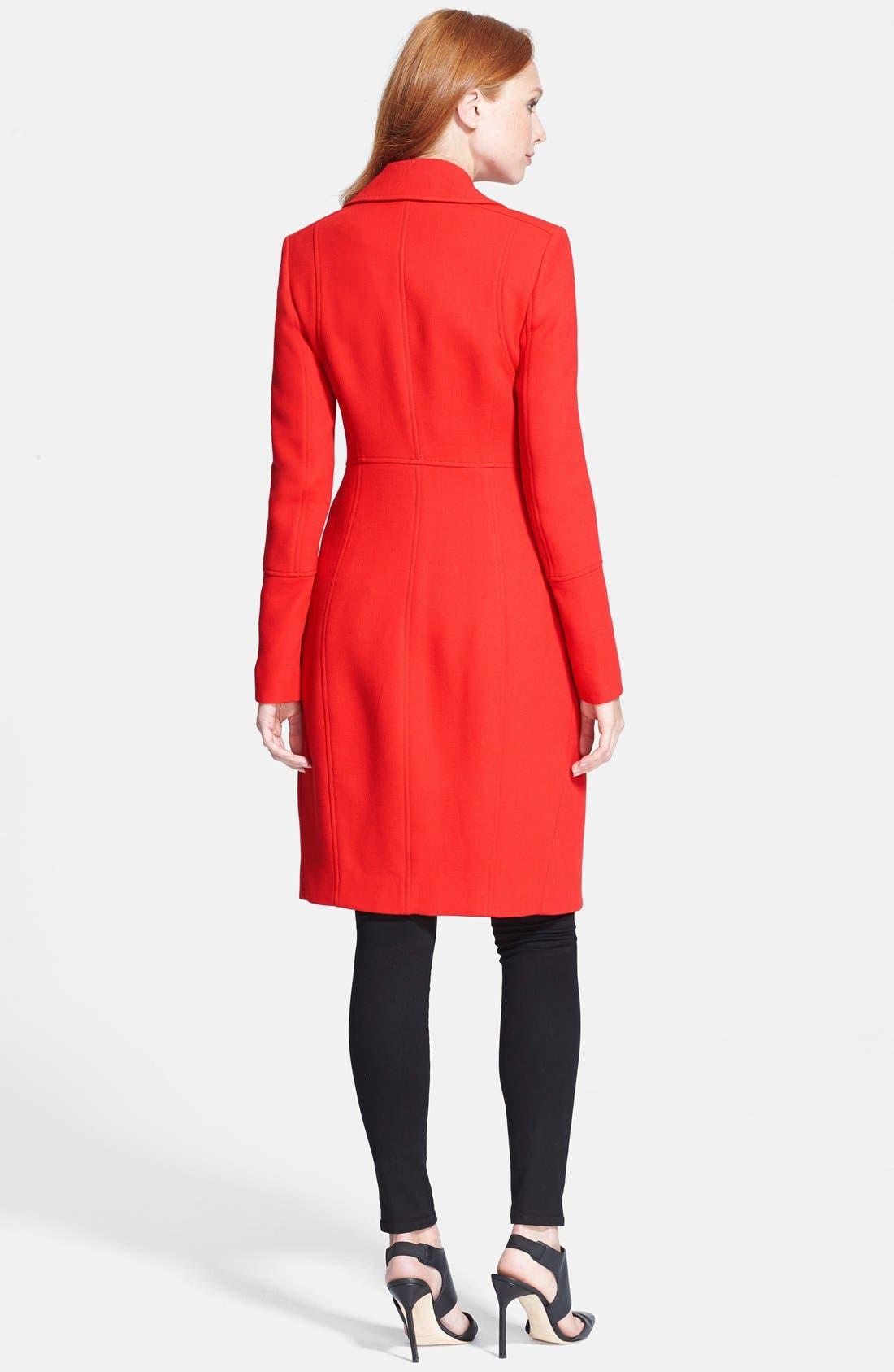 Alternate Image 2  - Diane von Furstenberg 'Mirabella' Wool Blend Coat