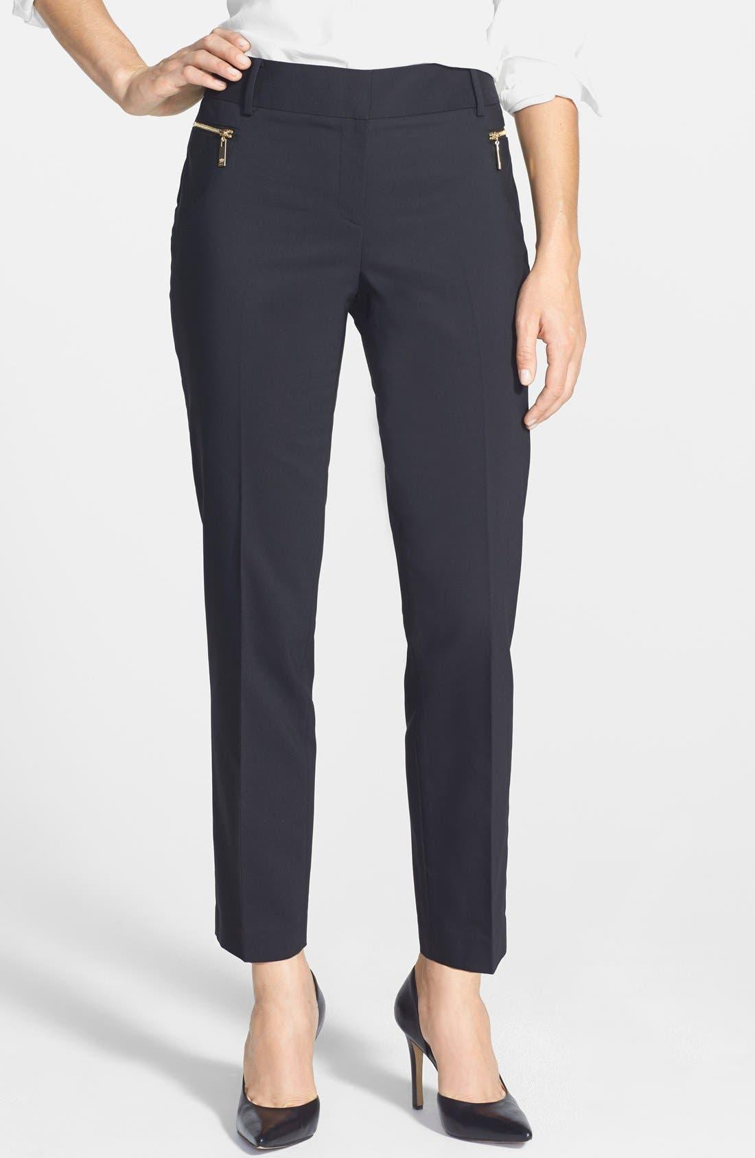 Alternate Image 1 Selected - Chaus Zip Pocket Slim Leg Pants