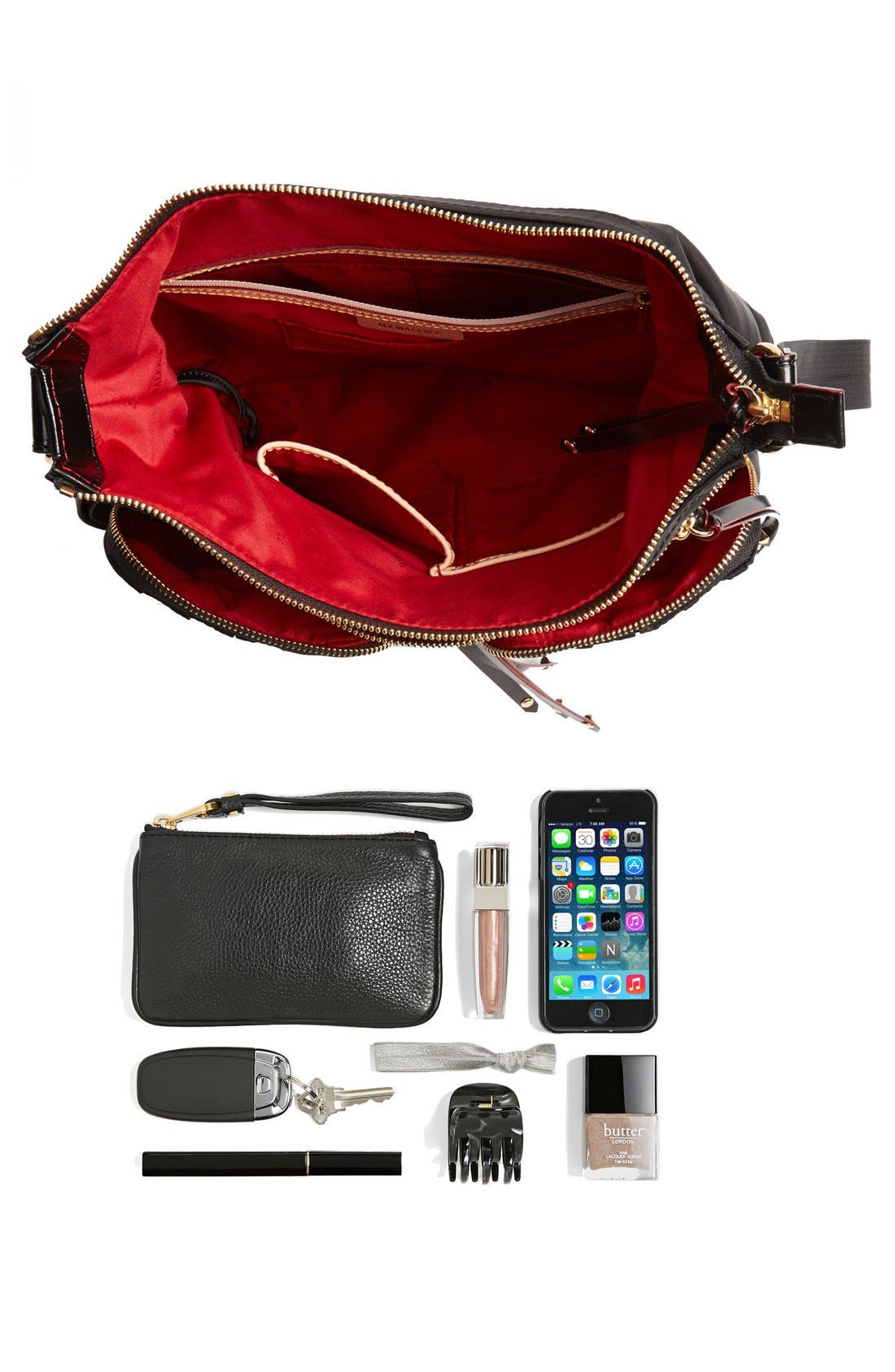 Alternate Image 3  - MZ Wallace 'Mia' Bedford Nylon Crossbody Bag