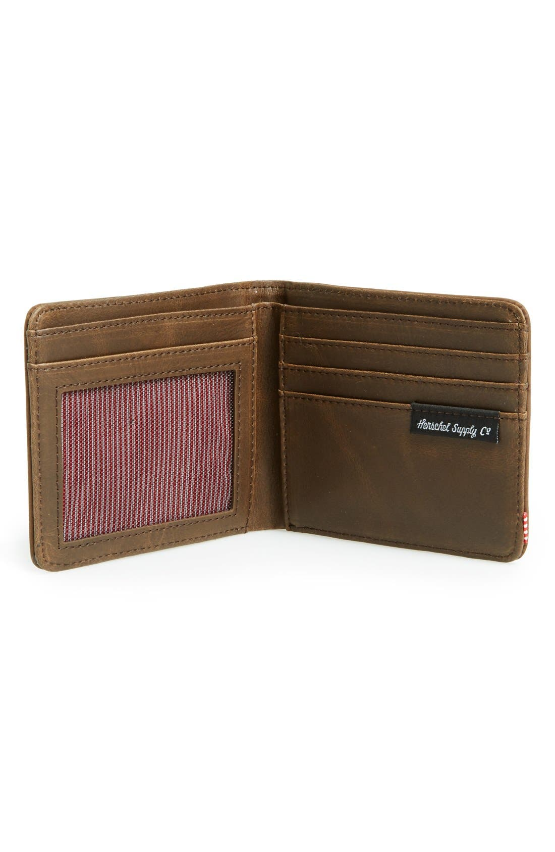 Alternate Image 2  - Herschel Supply Co. Hank Leather Bifold Wallet