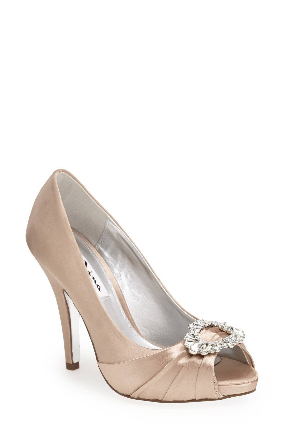 Main Image - Nina 'Elvira' Peep Toe Pump (Women)