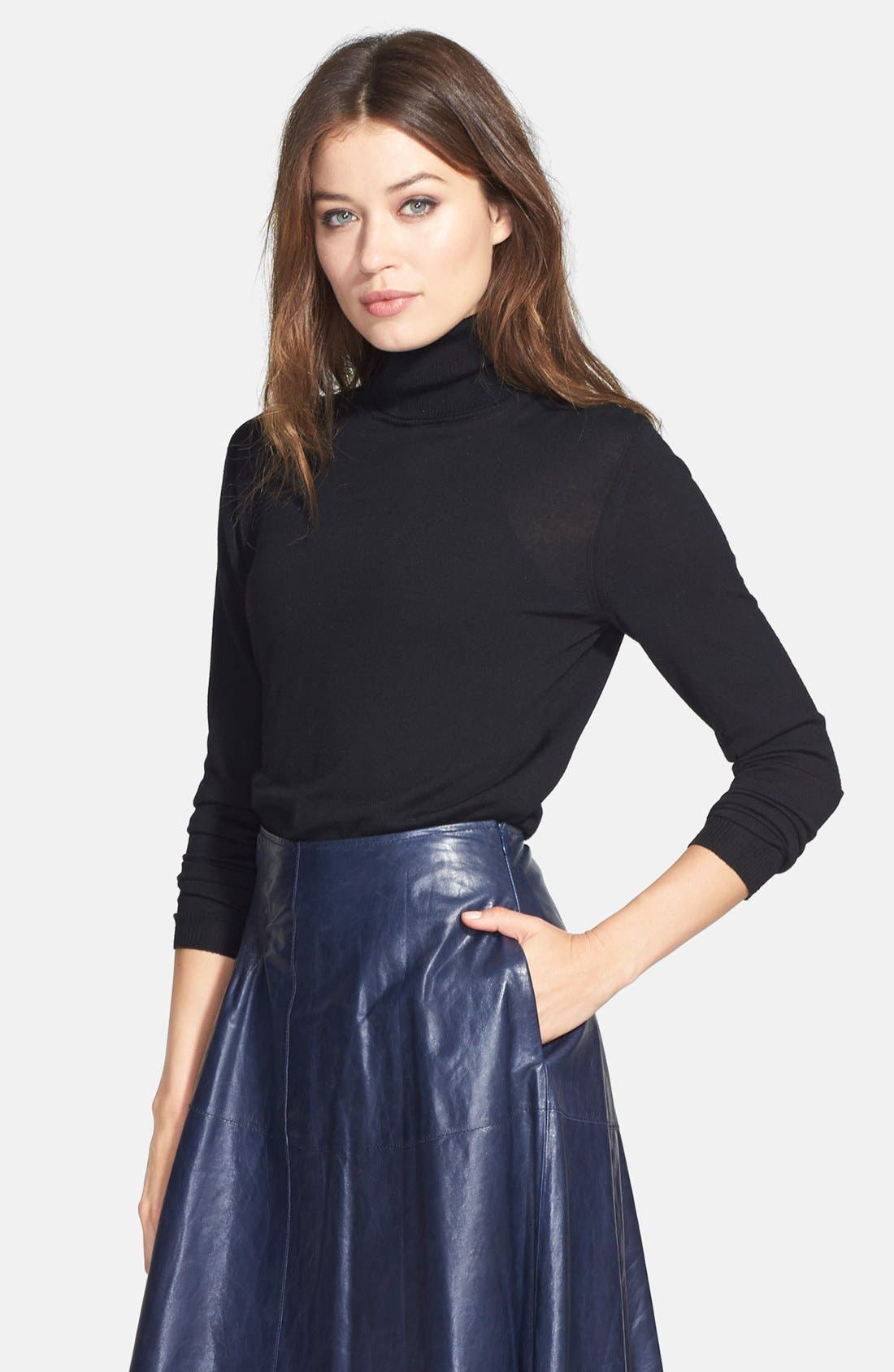Alternate Image 4  - Lafayette 148 New York Fine Gauge Turtleneck