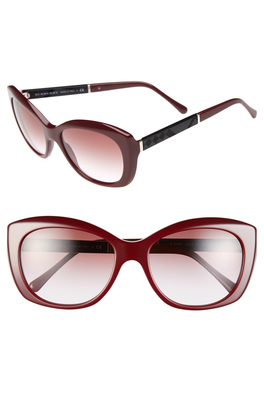Alternate Image 1 Selected - Burberry 55mm Sunglasses