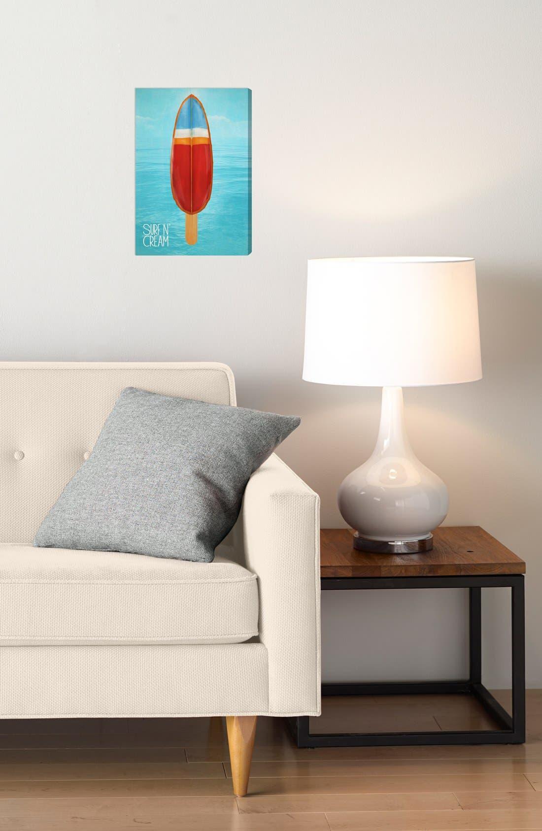 Alternate Image 2  - Oliver Gal 'Surf 'n Cream' Wall Art