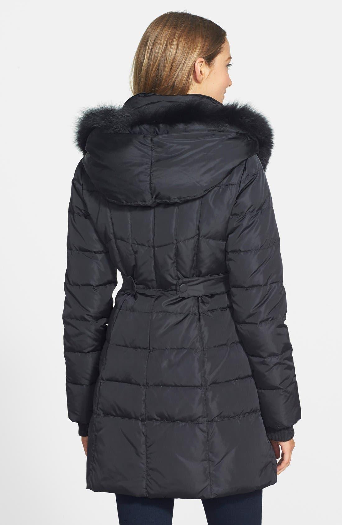 Alternate Image 2  - 1 Madison Genuine Fox Fur Trim Down Coat (Online Only)