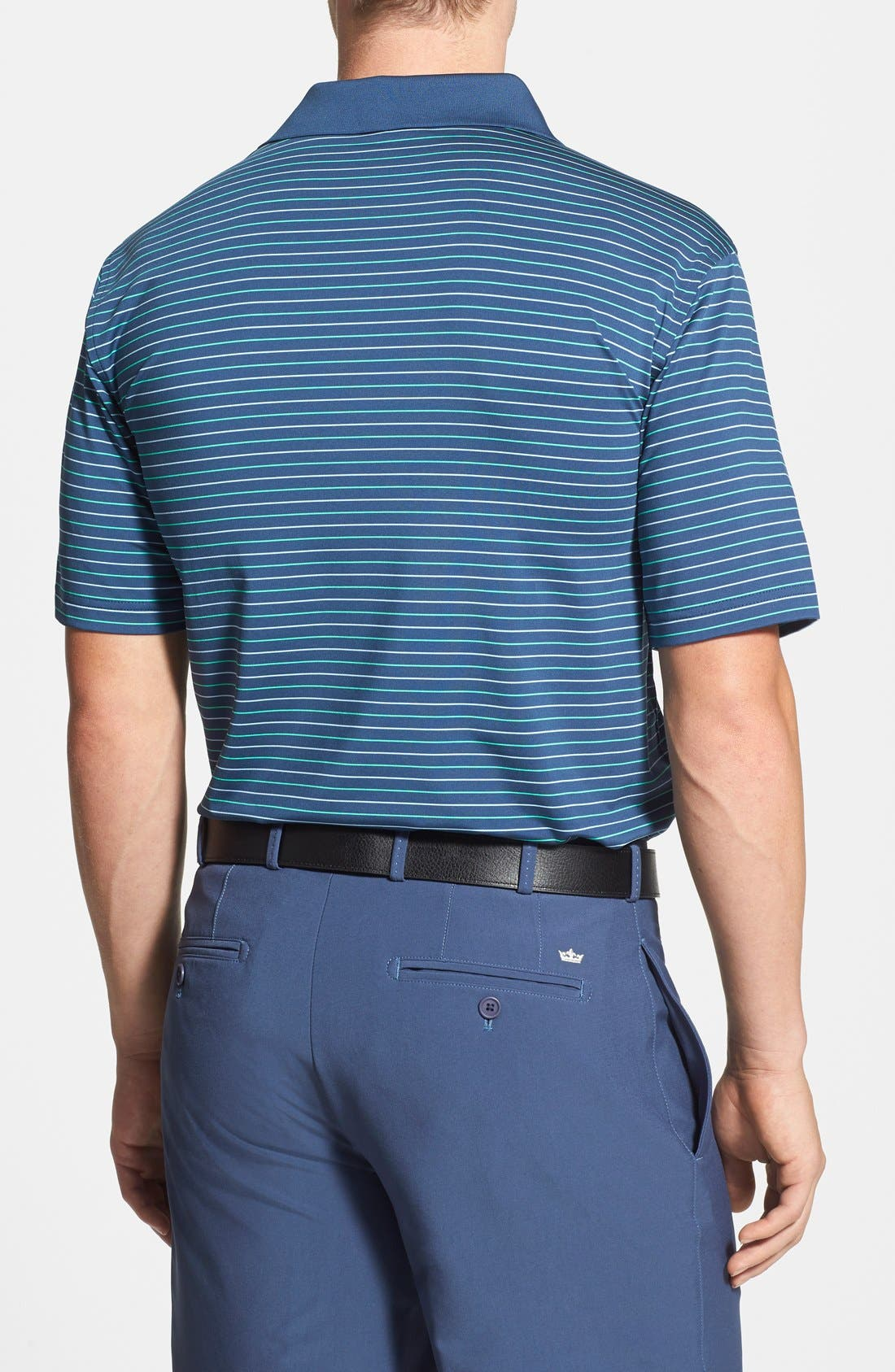 Alternate Image 2  - Peter Millar 'Harnett' Stripe Stretch Jersey Polo