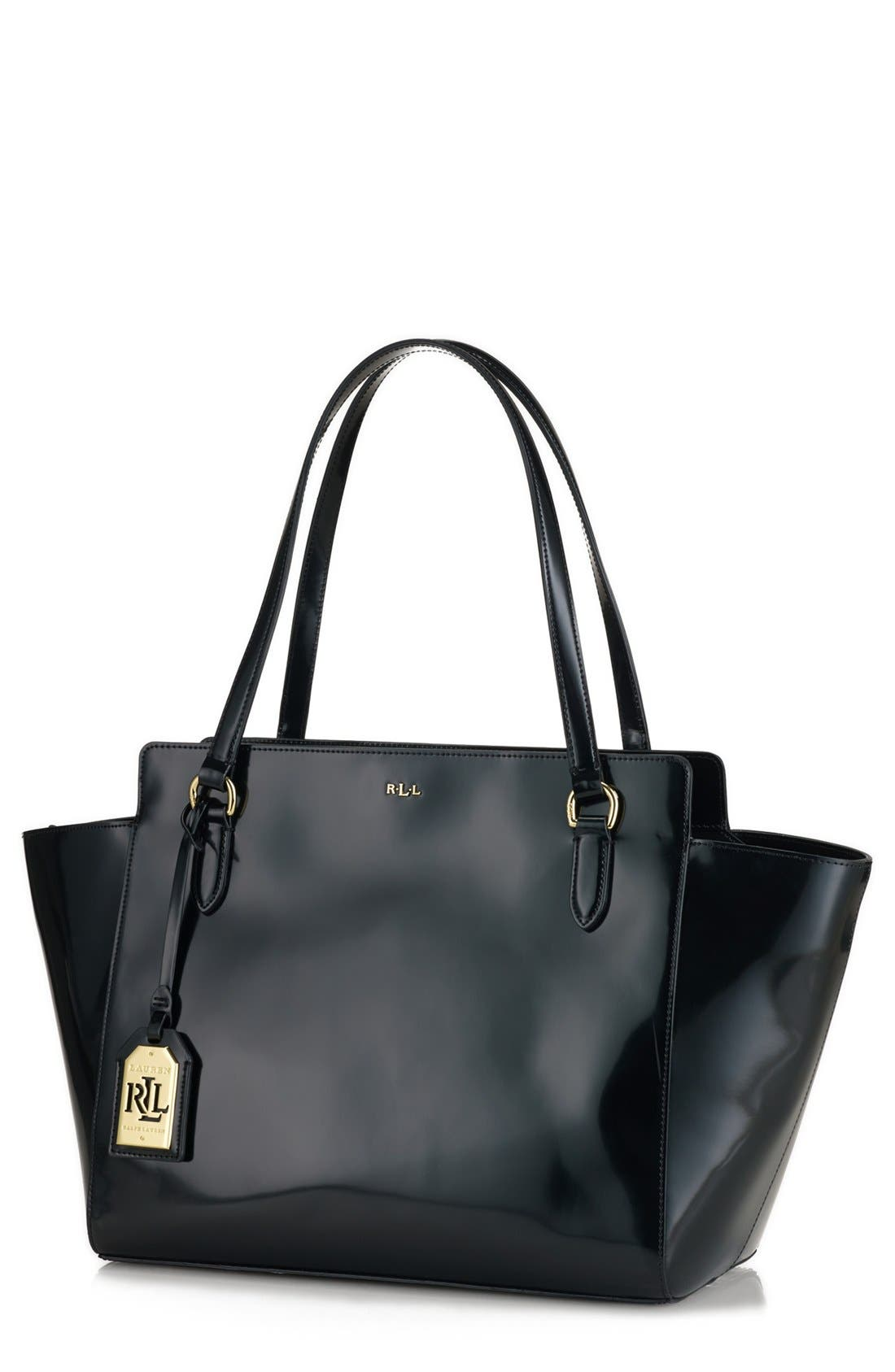 Main Image - Lauren Ralph Lauren Large Spazzolato Leather Shopper