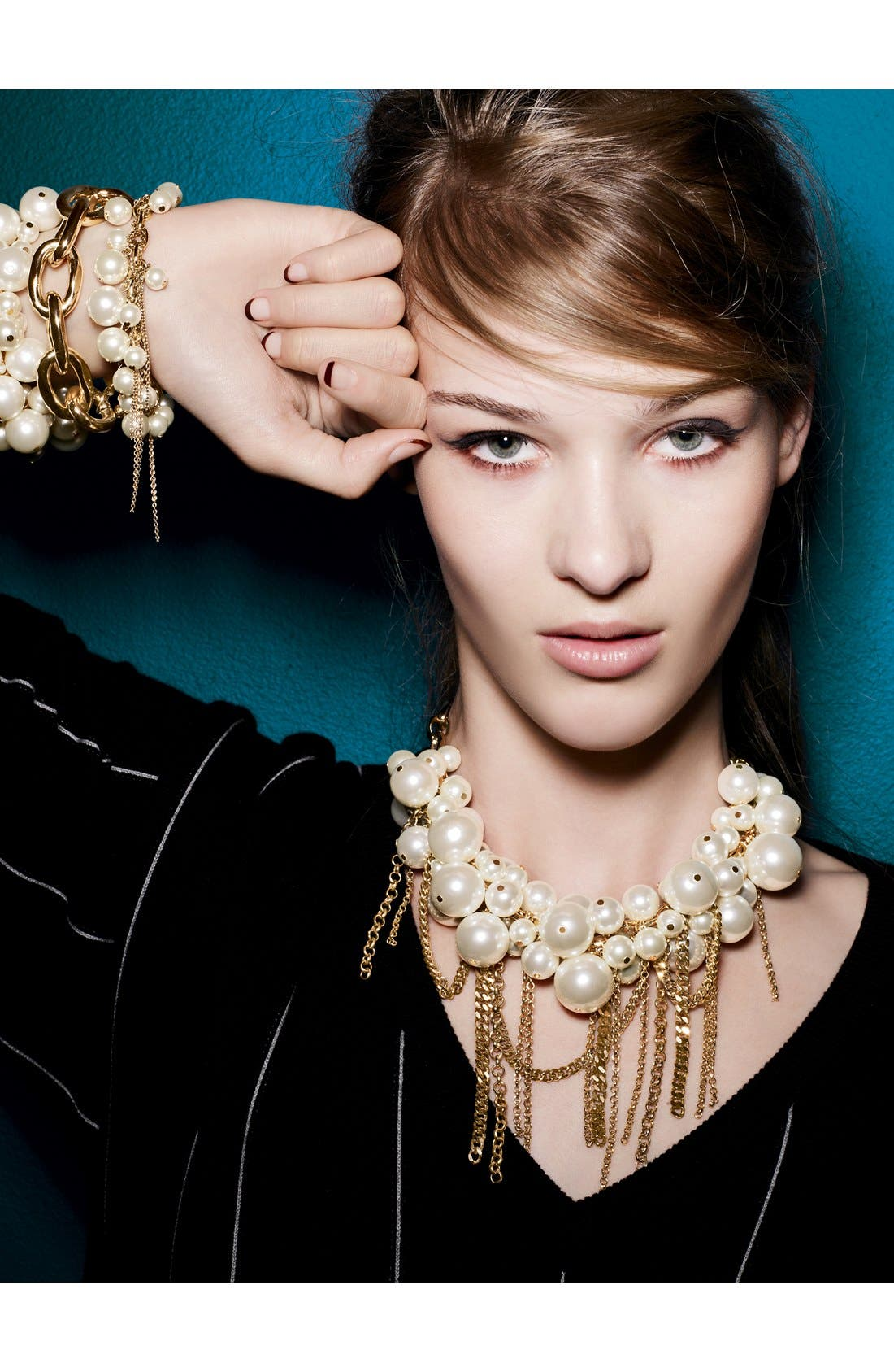 Alternate Image 3  - Nordstrom Fringed Faux Pearl Statement Necklace