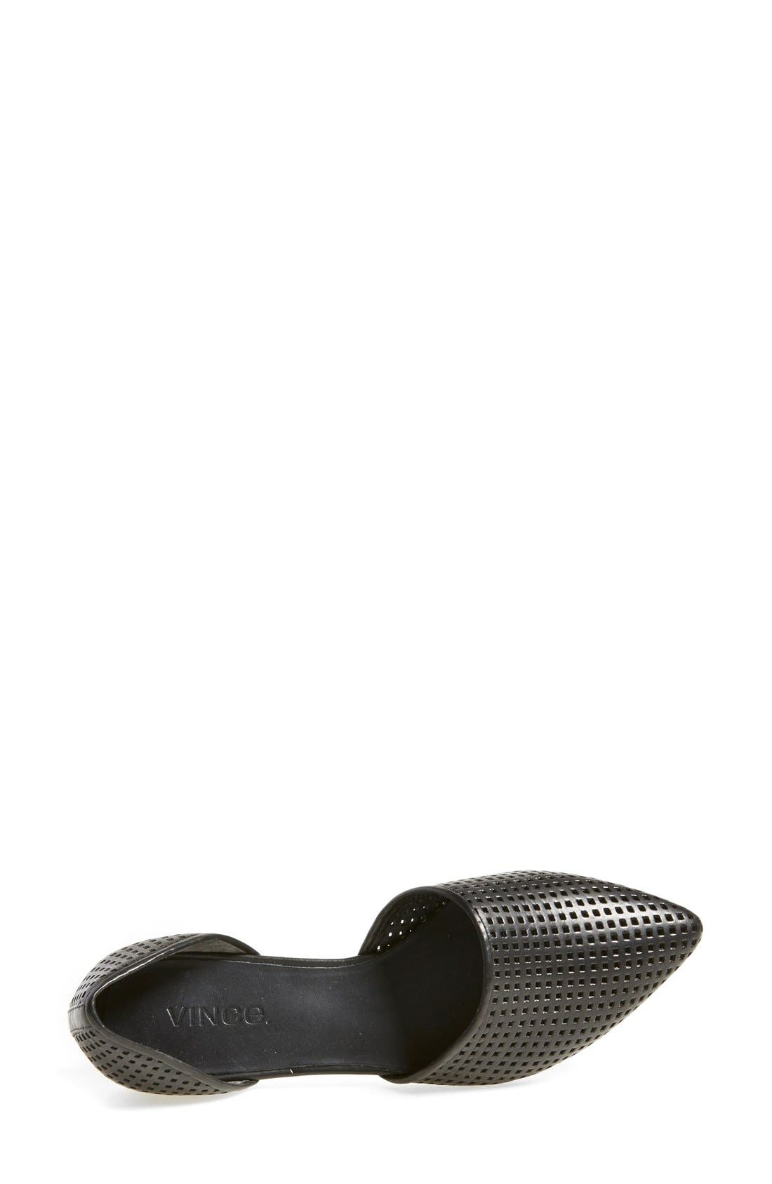 Alternate Image 3  - Vince 'Nina 2' Perforated Leather D'Orsay Flat (Women)