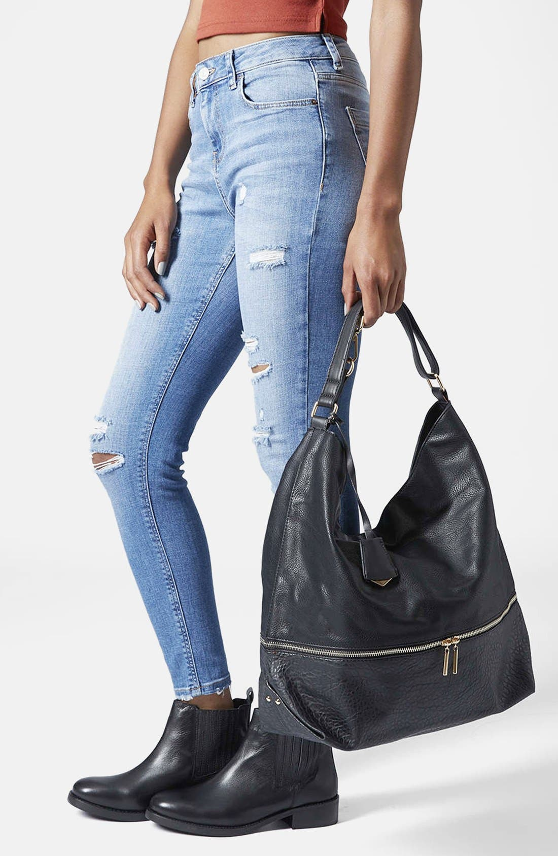 Alternate Image 2  - Topshop Slouchy Hobo Bag