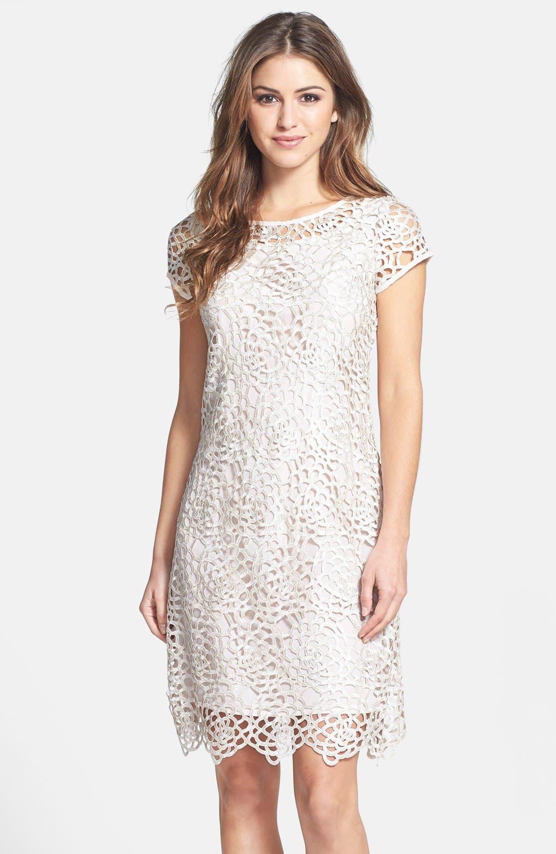 Main Image - Marina Lattice Lace Shift Dress