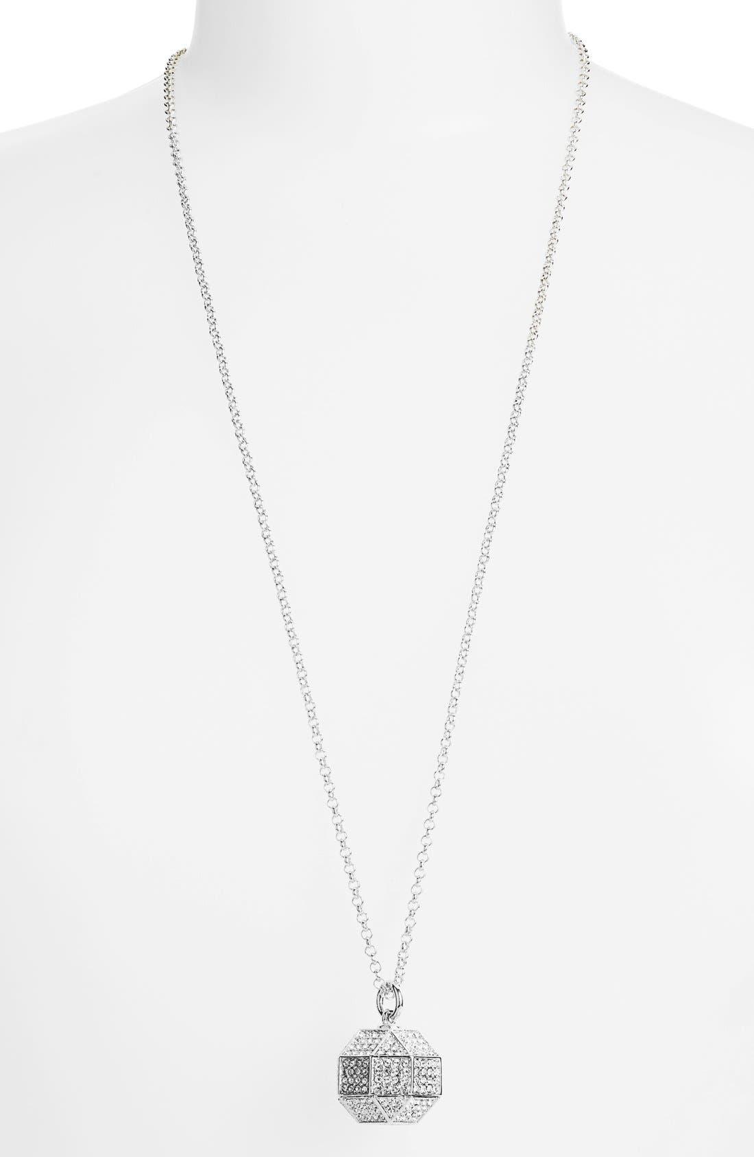 Alternate Image 1 Selected - Louise et Cie 'Pavé Octagon' Pendant Necklace