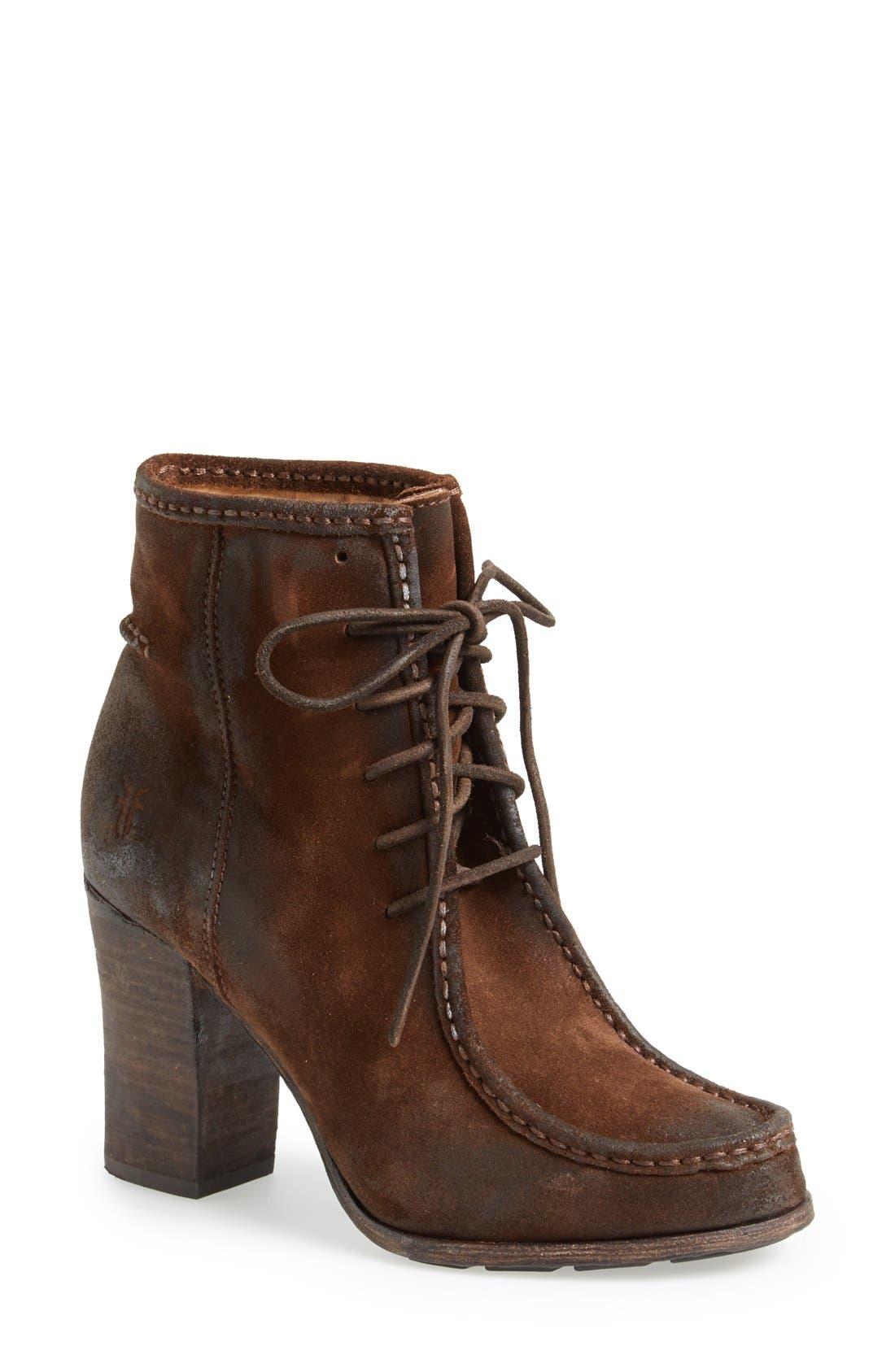 Alternate Image 1 Selected - Frye 'Parker' Suede Moc Toe Ankle Boot (Women)