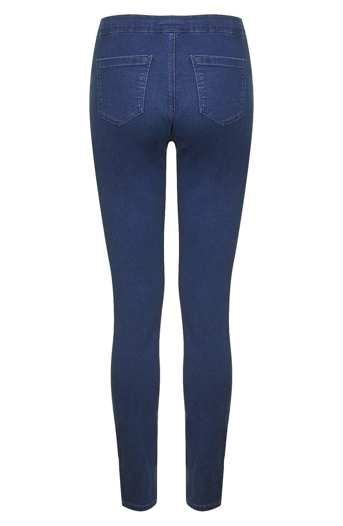 Alternate Image 2  - Topshop Maternity Skinny Moto Jeans