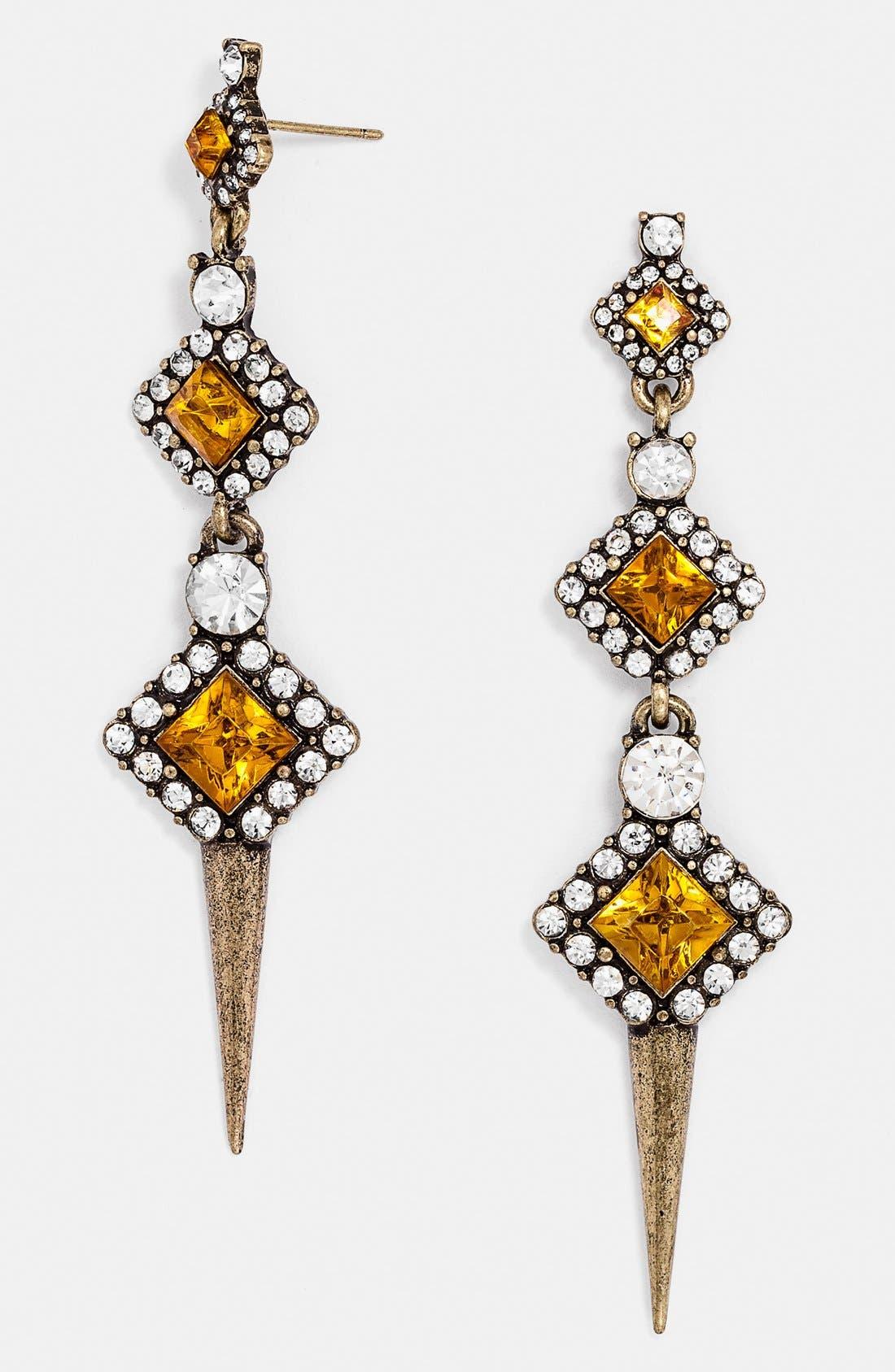 Alternate Image 1 Selected - BaubleBar 'Diamond Spine' Drop Earrings